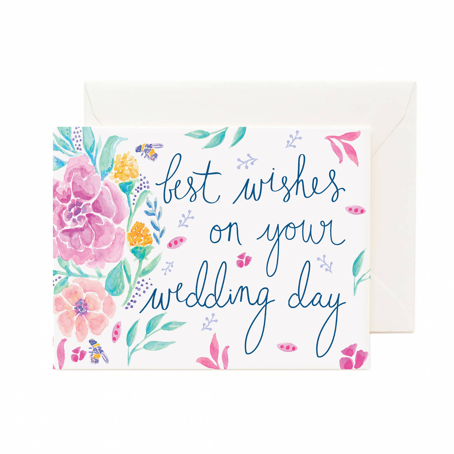 Best Wishes On Your Wedding Day Greeting Card — cunning co