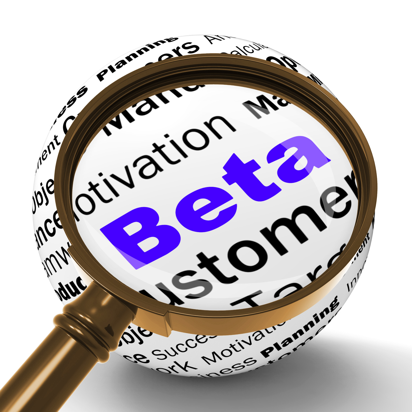 Beta Magnifier Definition Shows Trial Version Or Testing, Beta, Definition, Demo, Development, HQ Photo