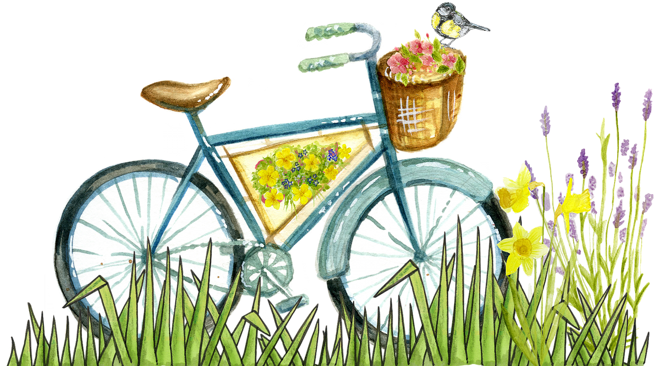 Bicycle Painting, Art, Bike, Colorful, Cycle, HQ Photo