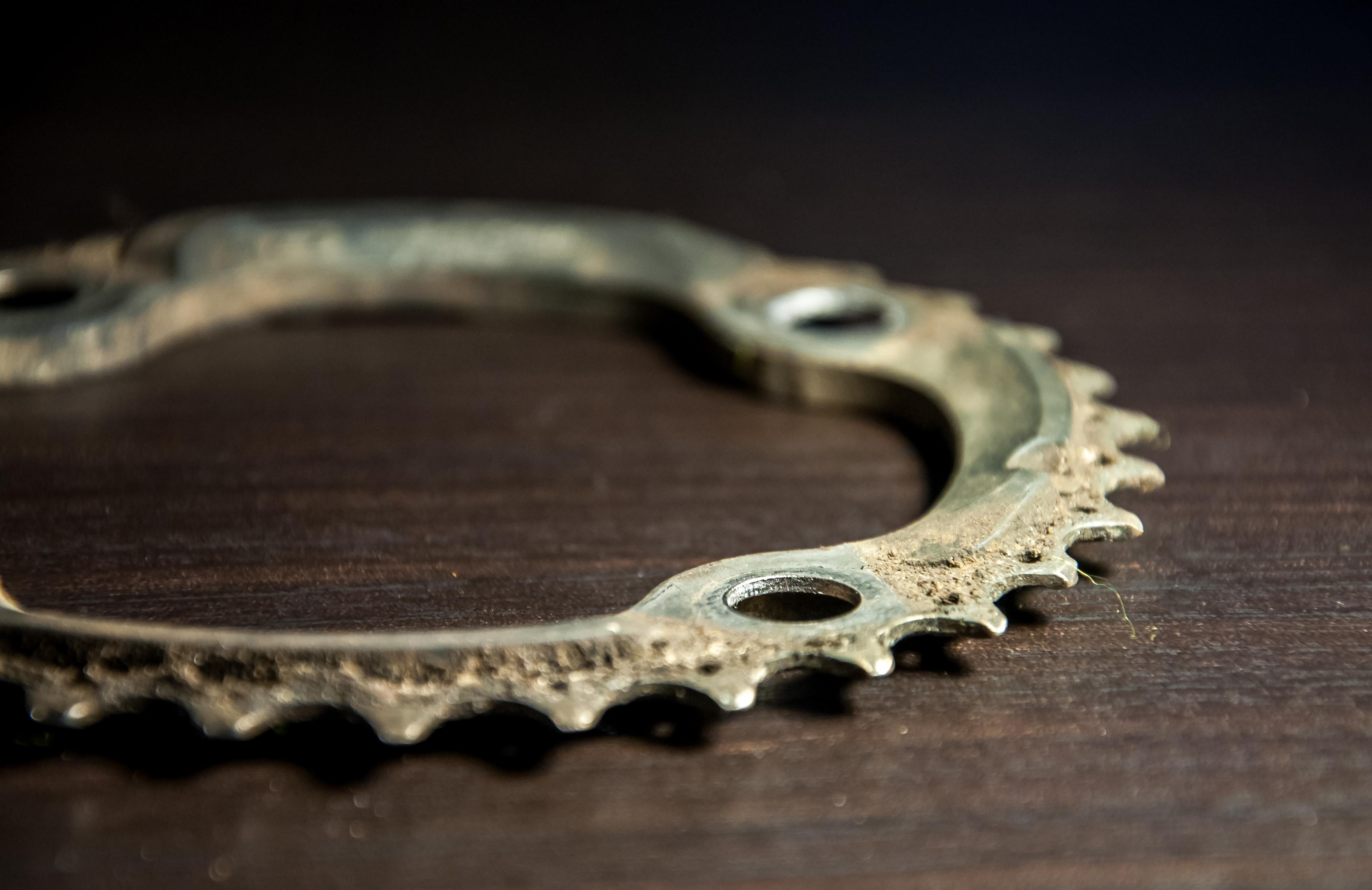 Bicycle parts, chainring, Bicycle, Metal, Vehicle, Teeth, HQ Photo