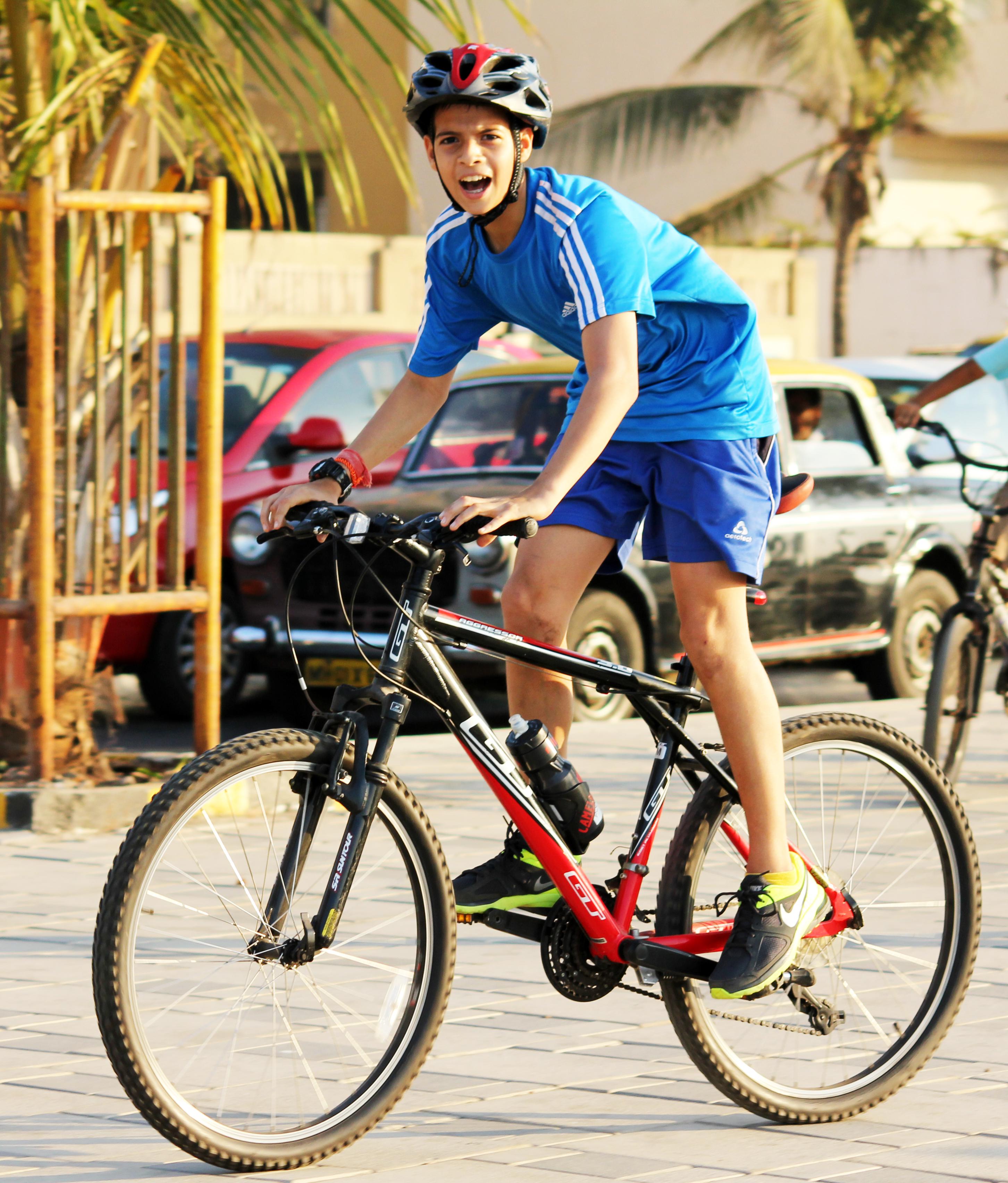 Bicycle rider photo