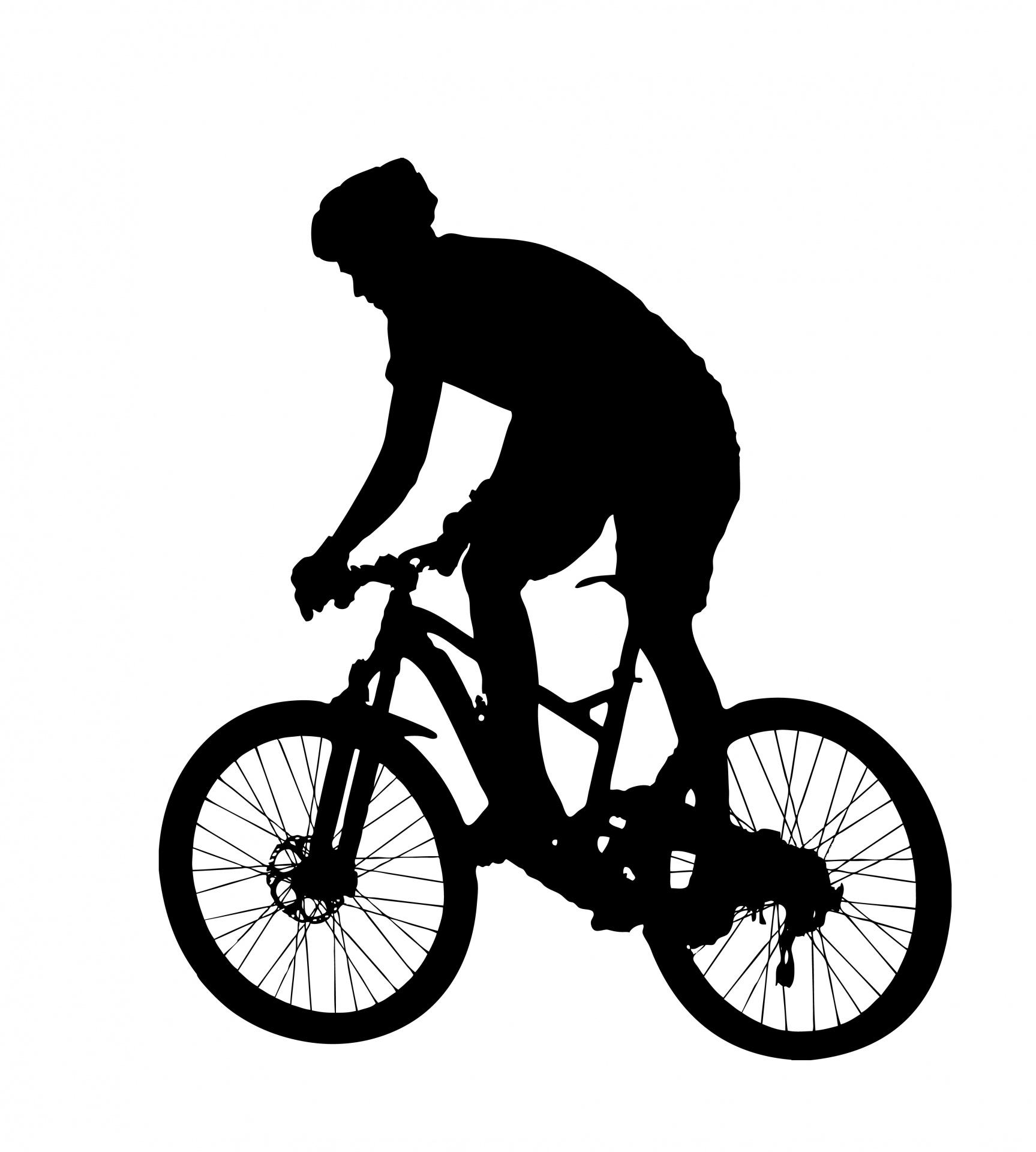 Mountain Bike Rider Silhouette Free Stock Photo - Public Domain Pictures