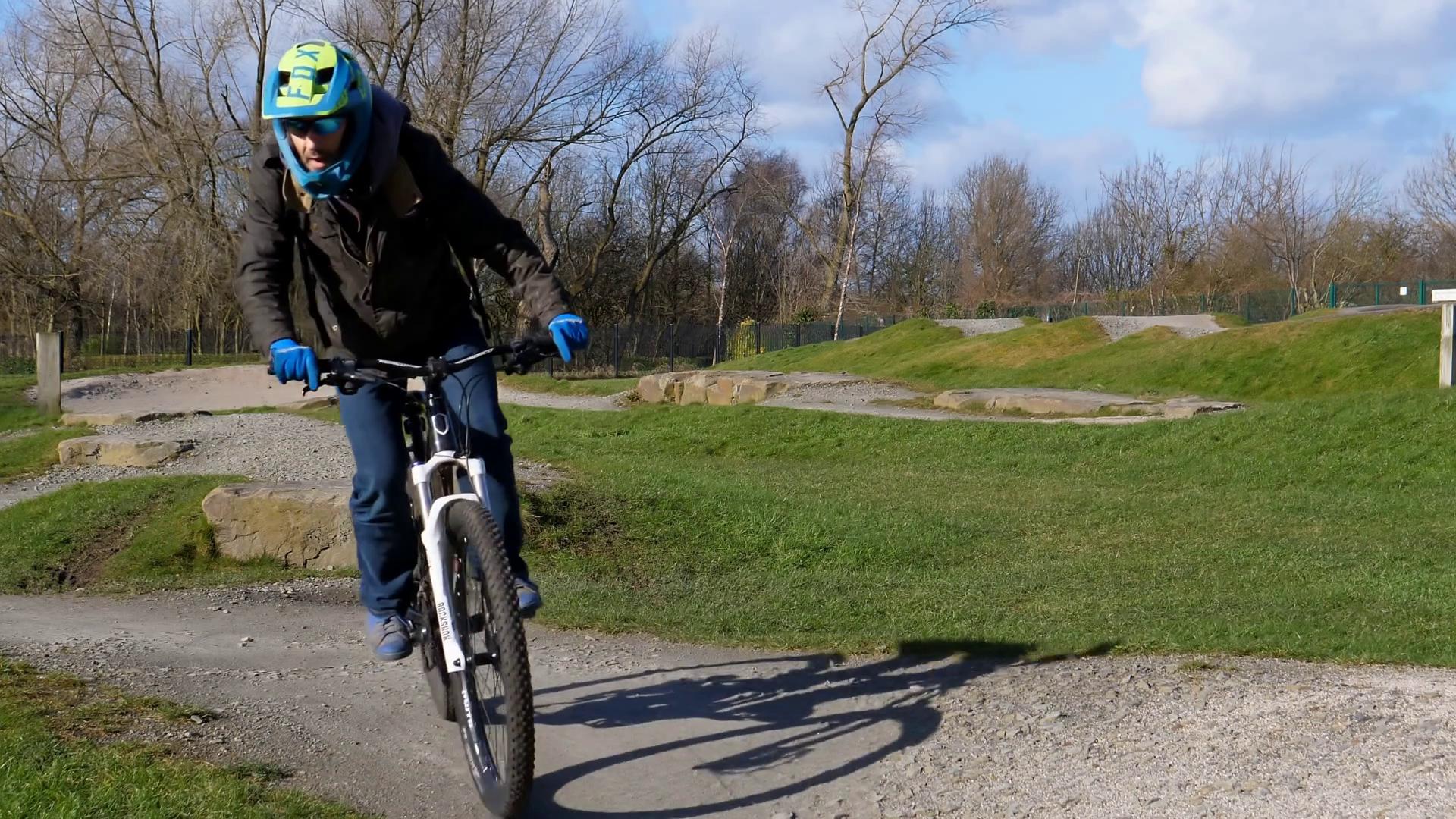 Mountain Bike Rider Shows His Skill Stock Video Footage - VideoBlocks