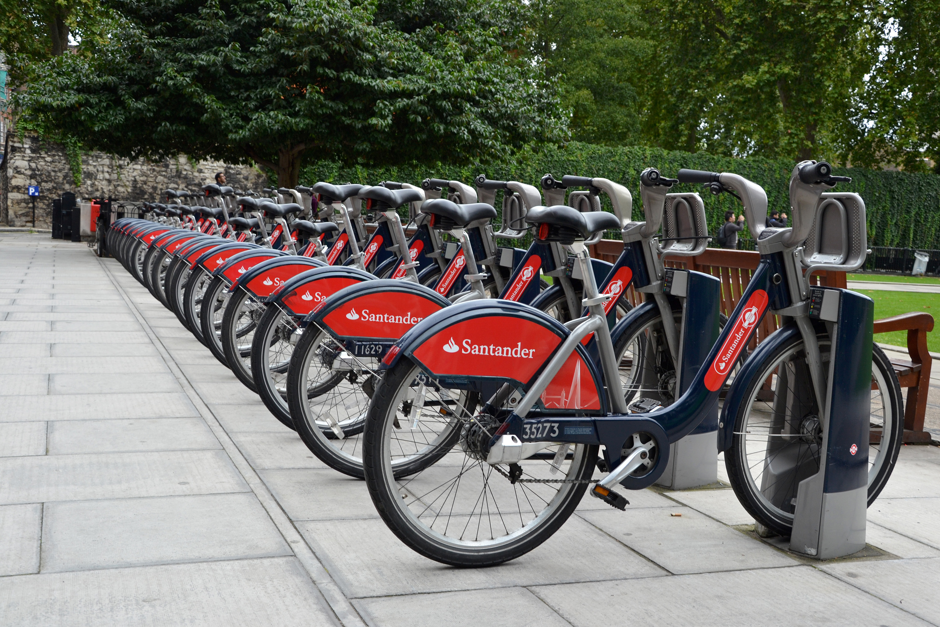 Bicycles in London, Bank, Sport, Saddle, Santander, HQ Photo