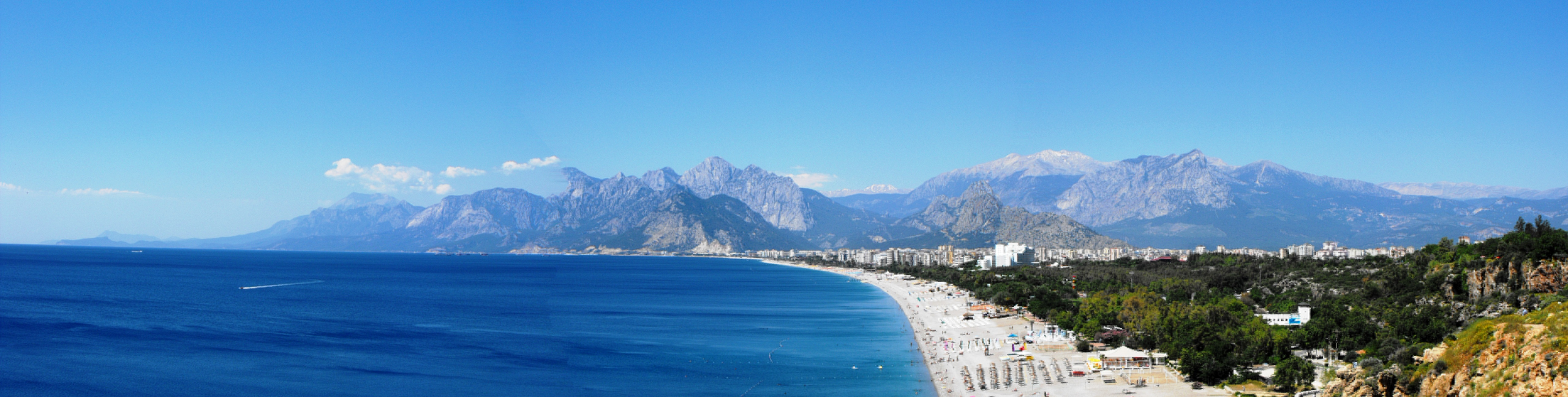 Big beach of Antalya, Antalya, Beach, Landscape, Panorama, HQ Photo