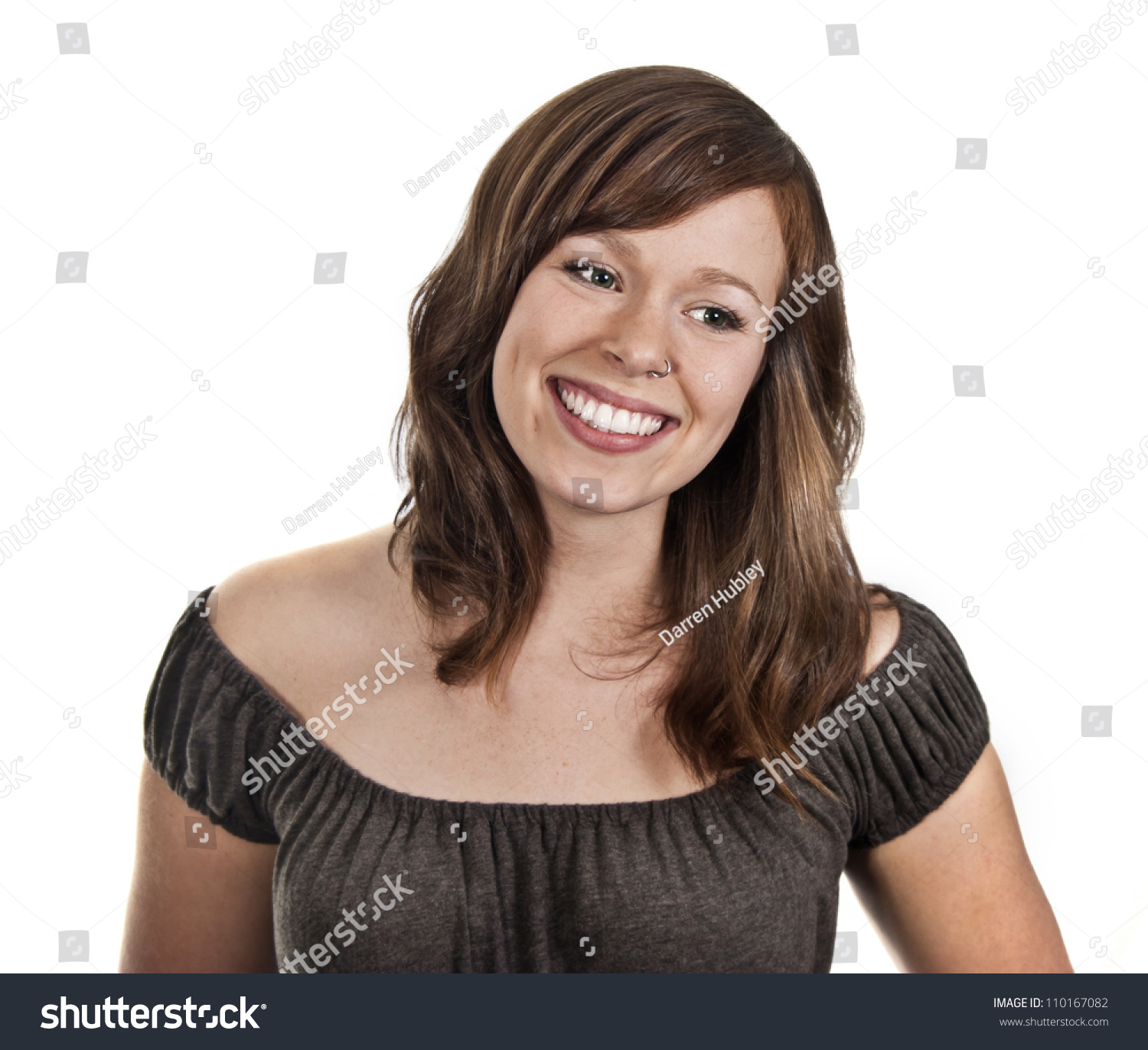 Laughing Lady Big Beautiful Smile Stock Photo (Royalty Free ...