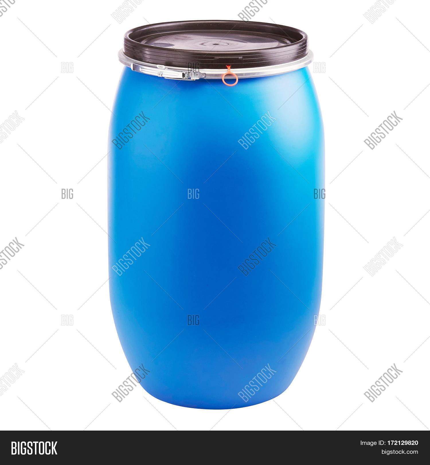 Plastic Storage Drum. Big Blue Image & Photo | Bigstock