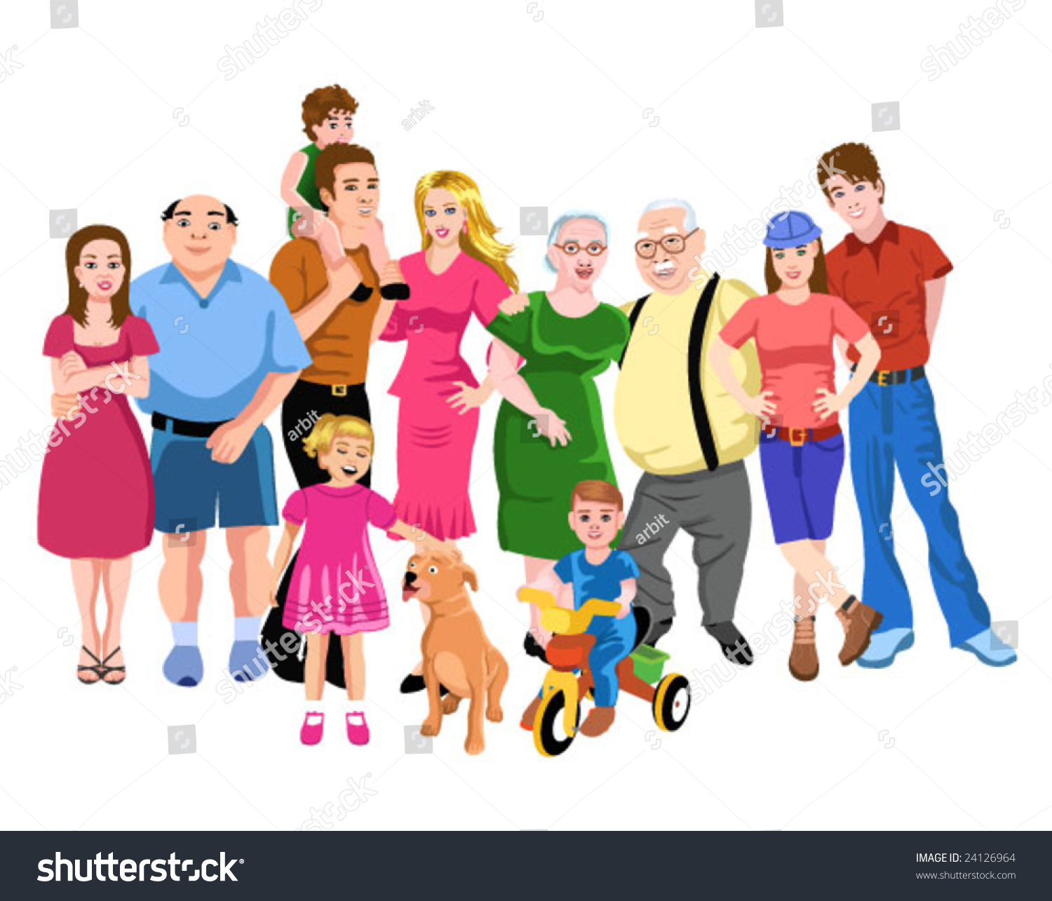 Big Family Stock Vector HD (Royalty Free) 24126964 - Shutterstock