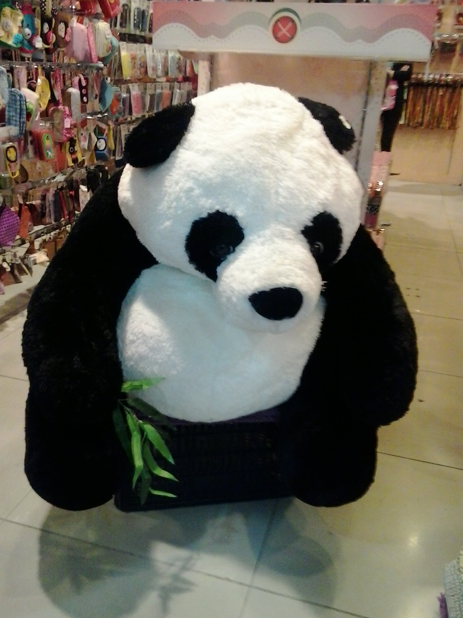 Big panda stuffed animal photo