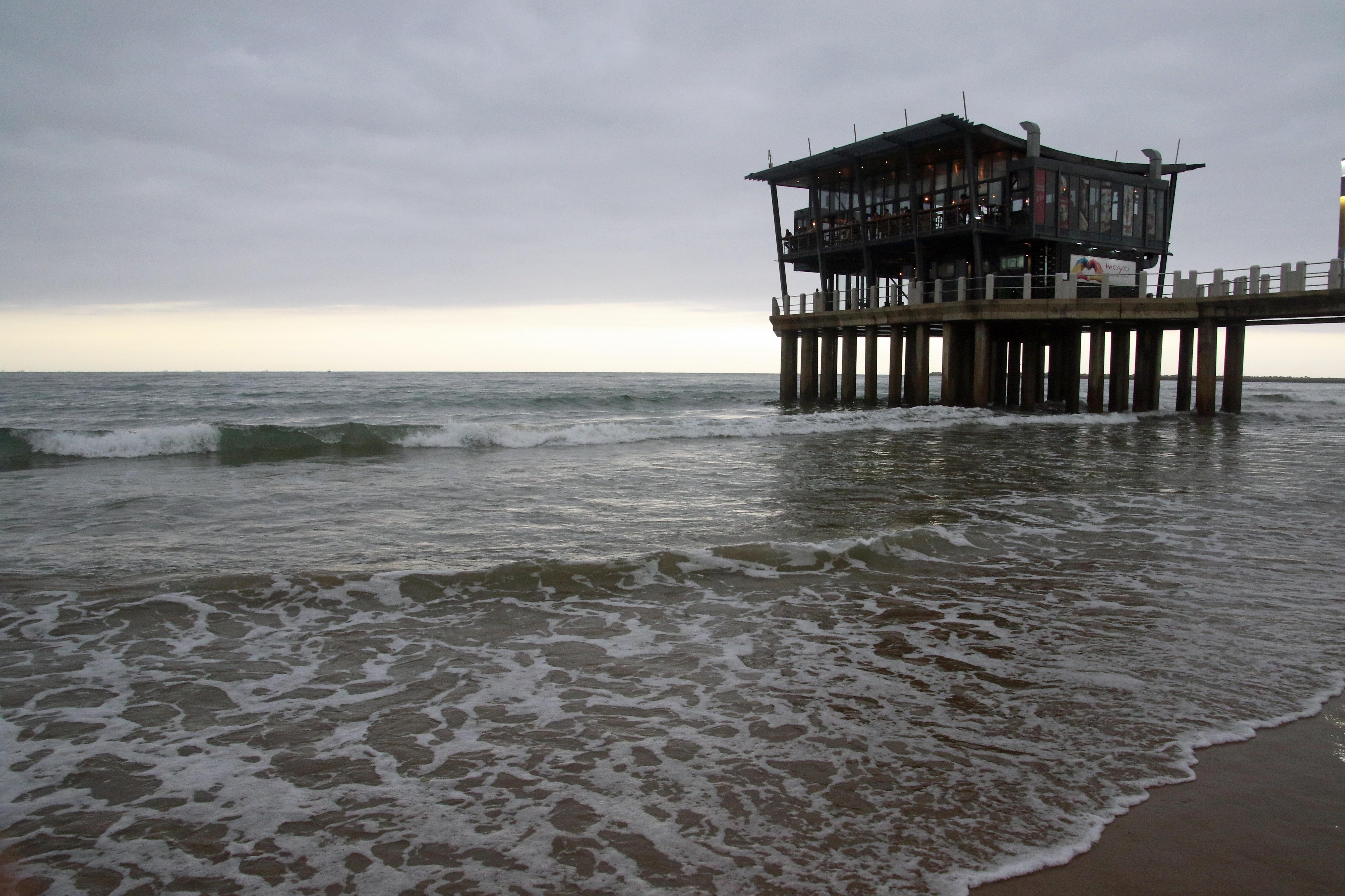Big pier on the beach, Big pier on the beach