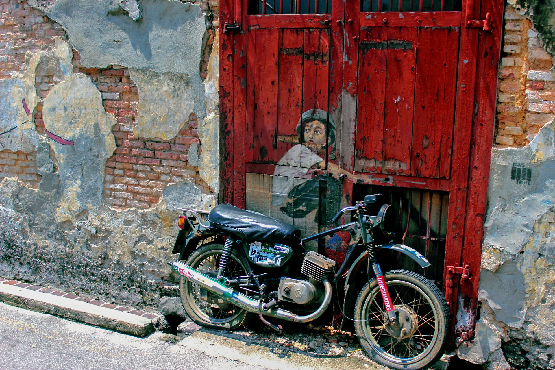 Bike, Color, Door, House, Old, HQ Photo