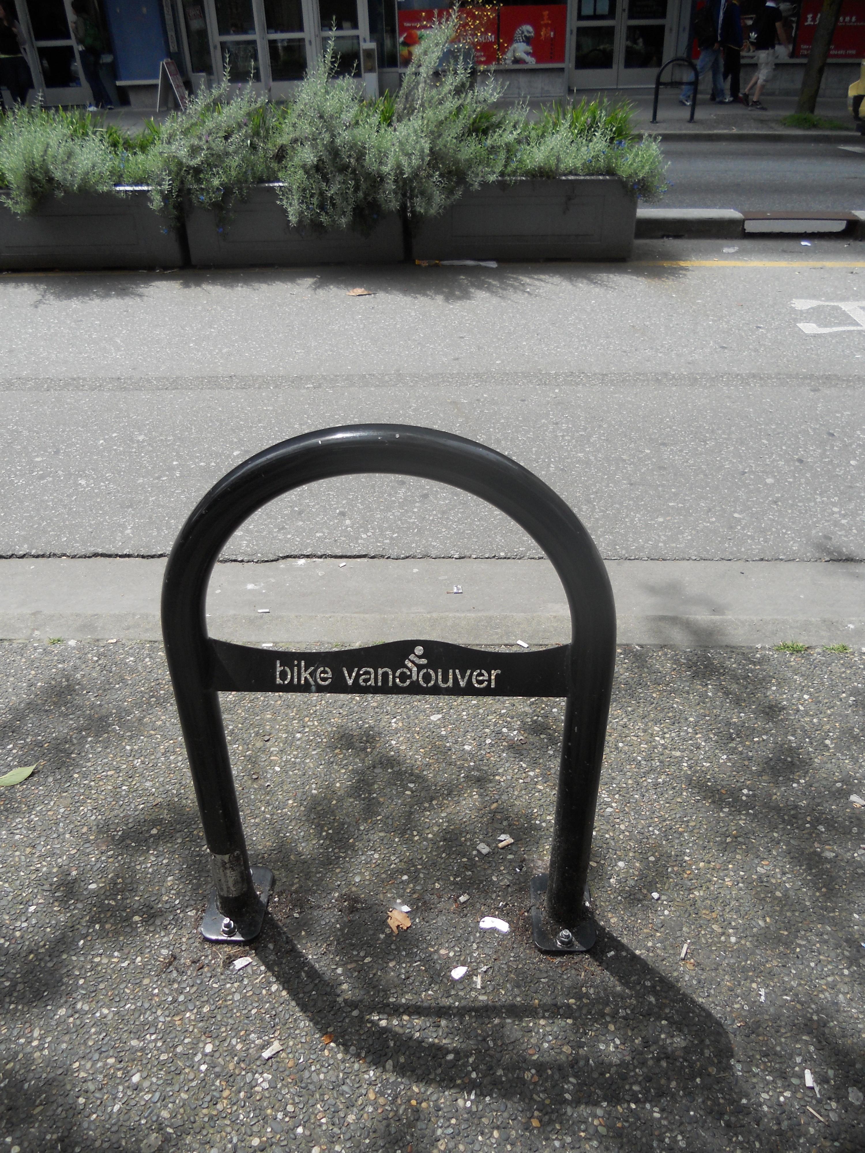 Bike lane -- downtown vancouver photo