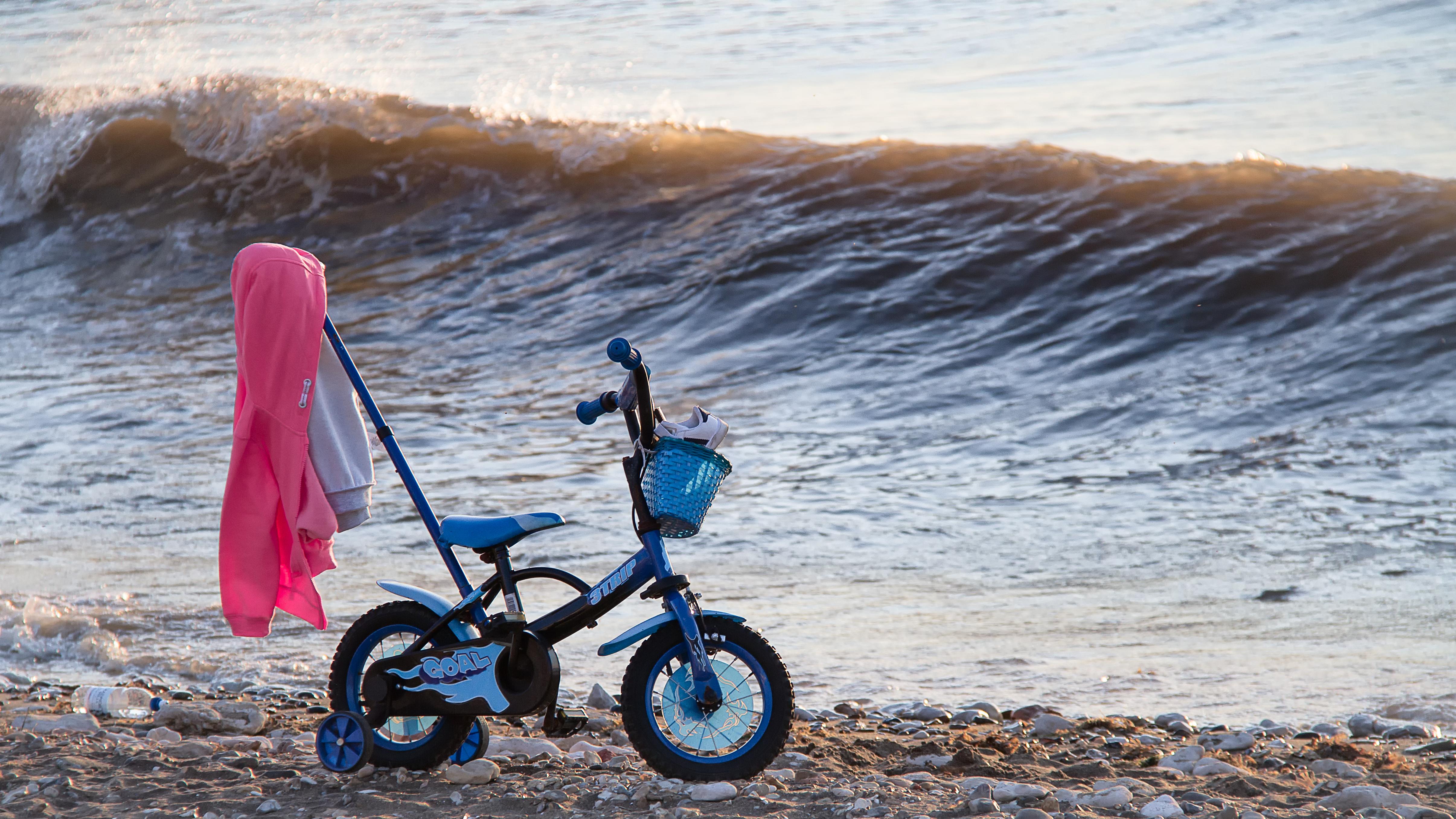 Bike on the beach photo