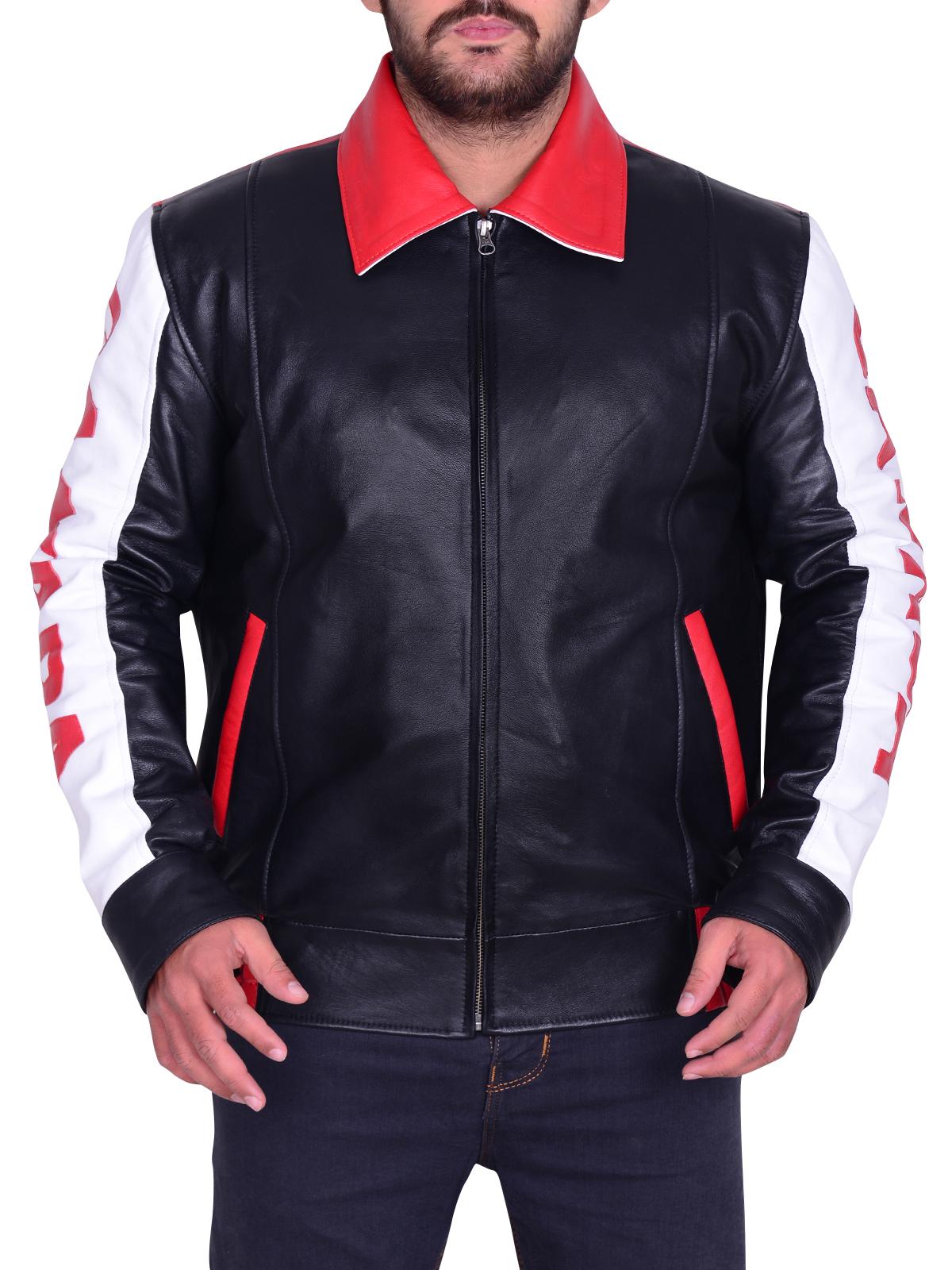 Motorcycle Canadian Flag Bomber Leather Jacket - Instylejackets