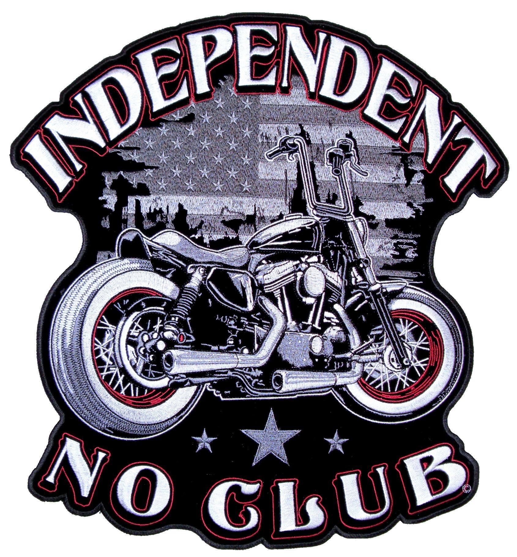 Patriotic Mens Independent No Club Motorcycle American Flag Biker ...