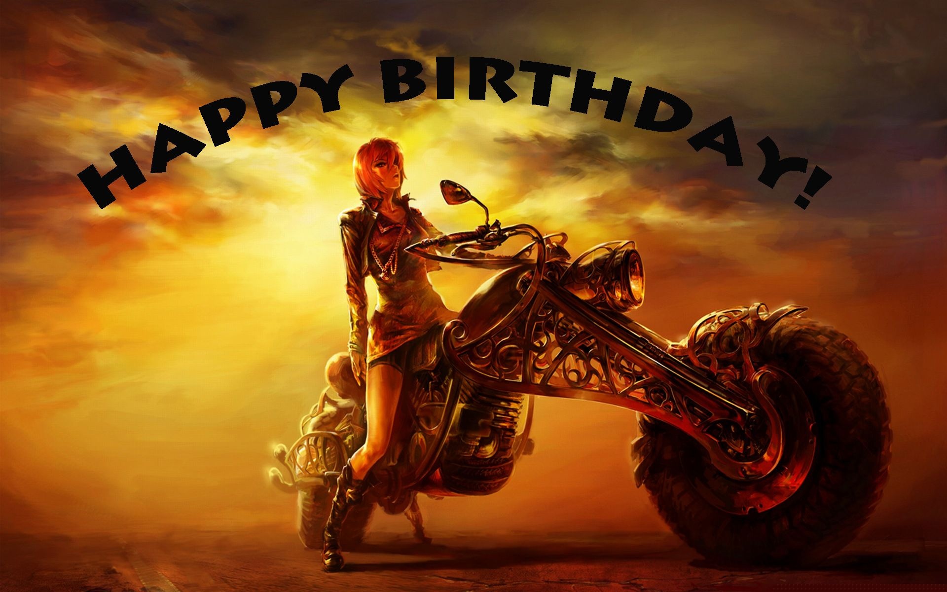 Happy Birthday Biker chick | motorcycles | Pinterest | Biker chick ...