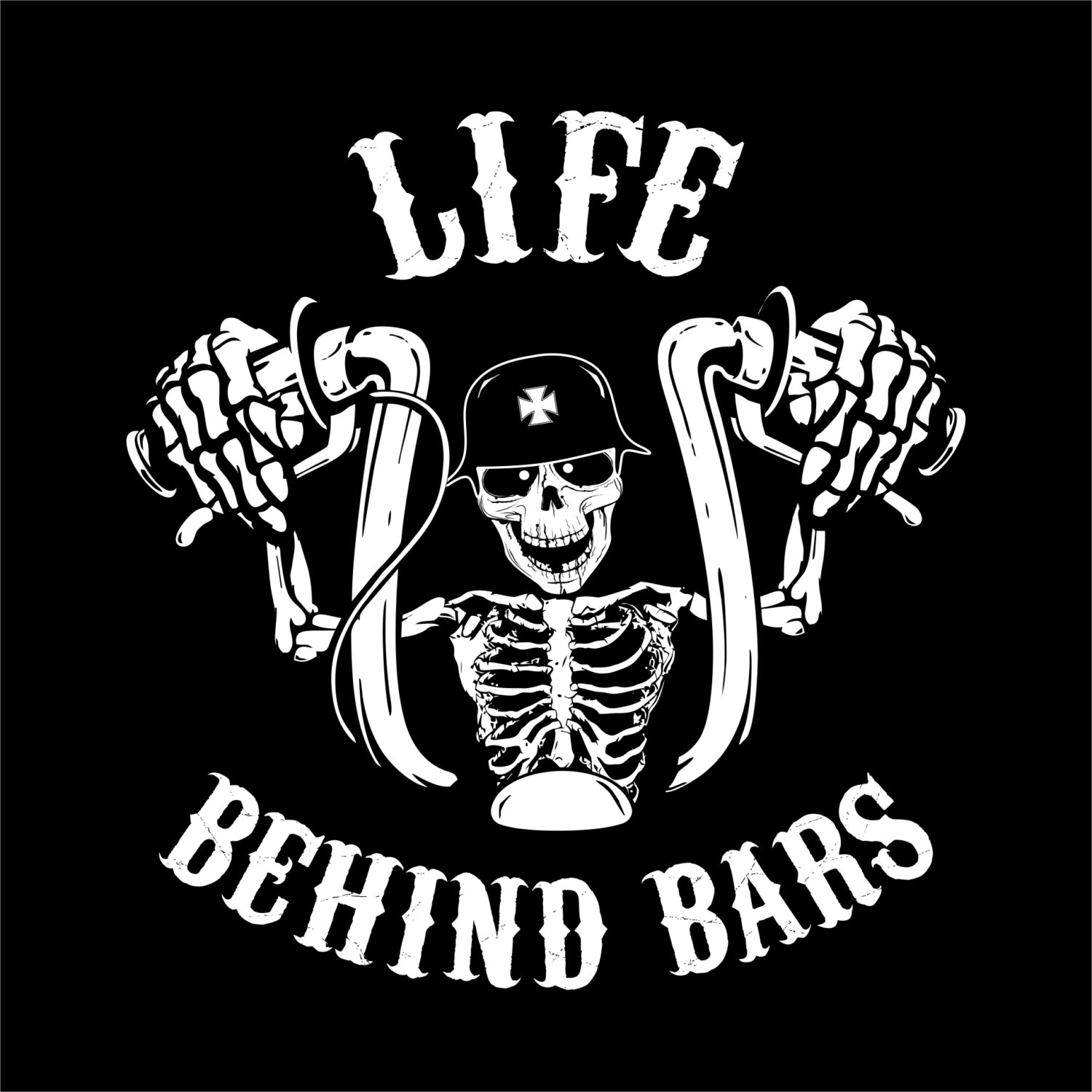 Life Behind Bars - Biker Shirt - The Original - Biker Shirt ...