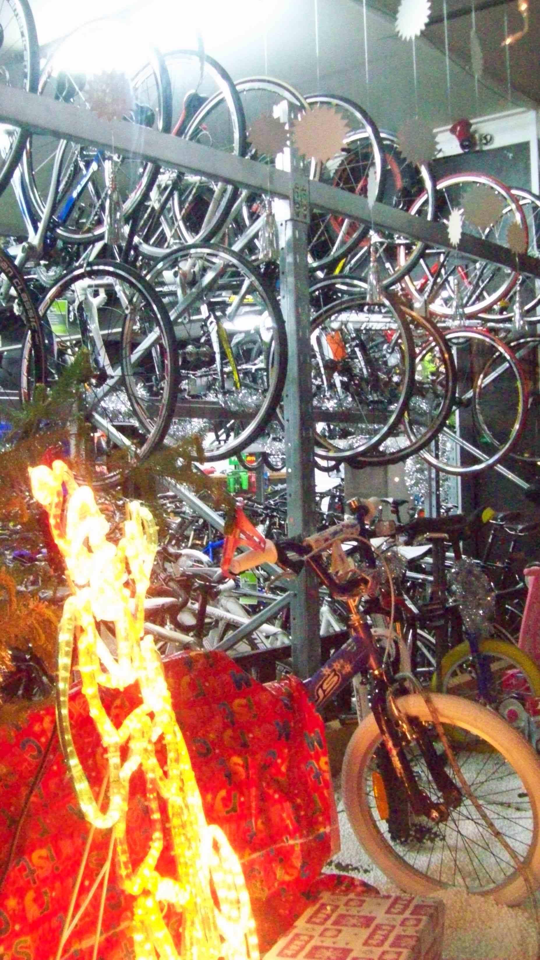 Bikes Retail, Bicycle, Night, Trial, Transport, HQ Photo