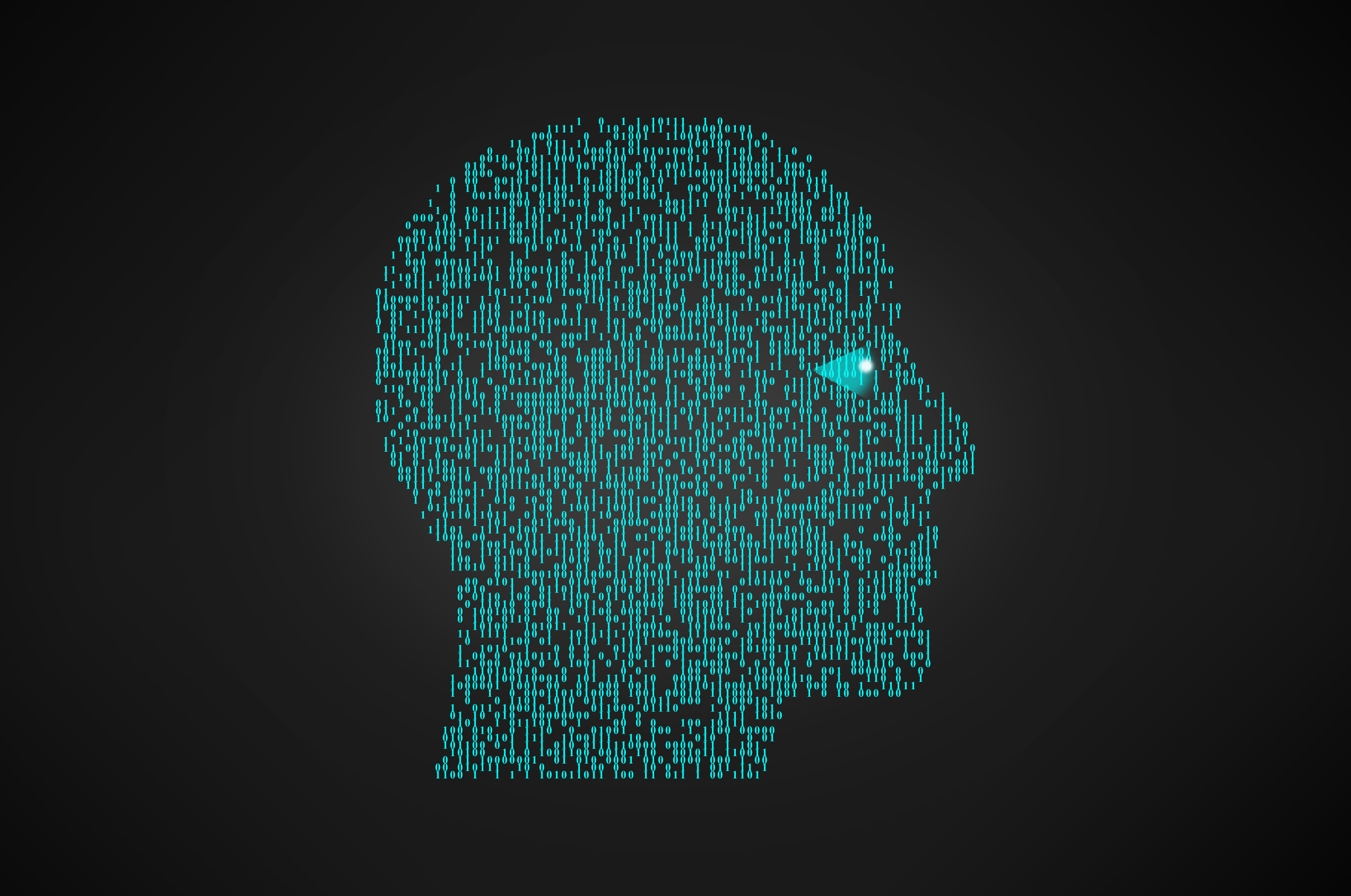Binary Head - Artificial Intelligence Concept, Abstract, Neuro, Nervous, Metal, HQ Photo