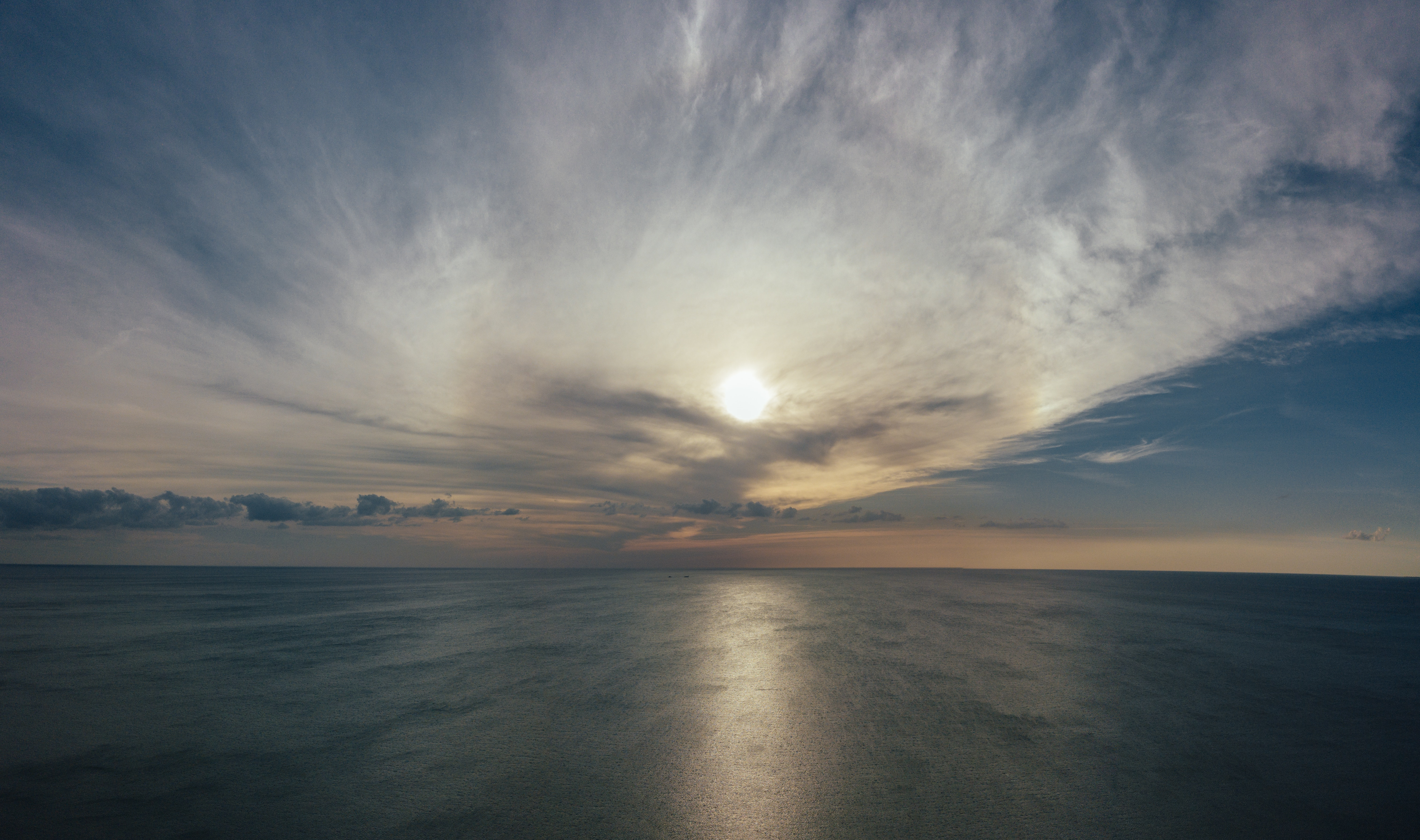 Bird's eye view of ocean photo
