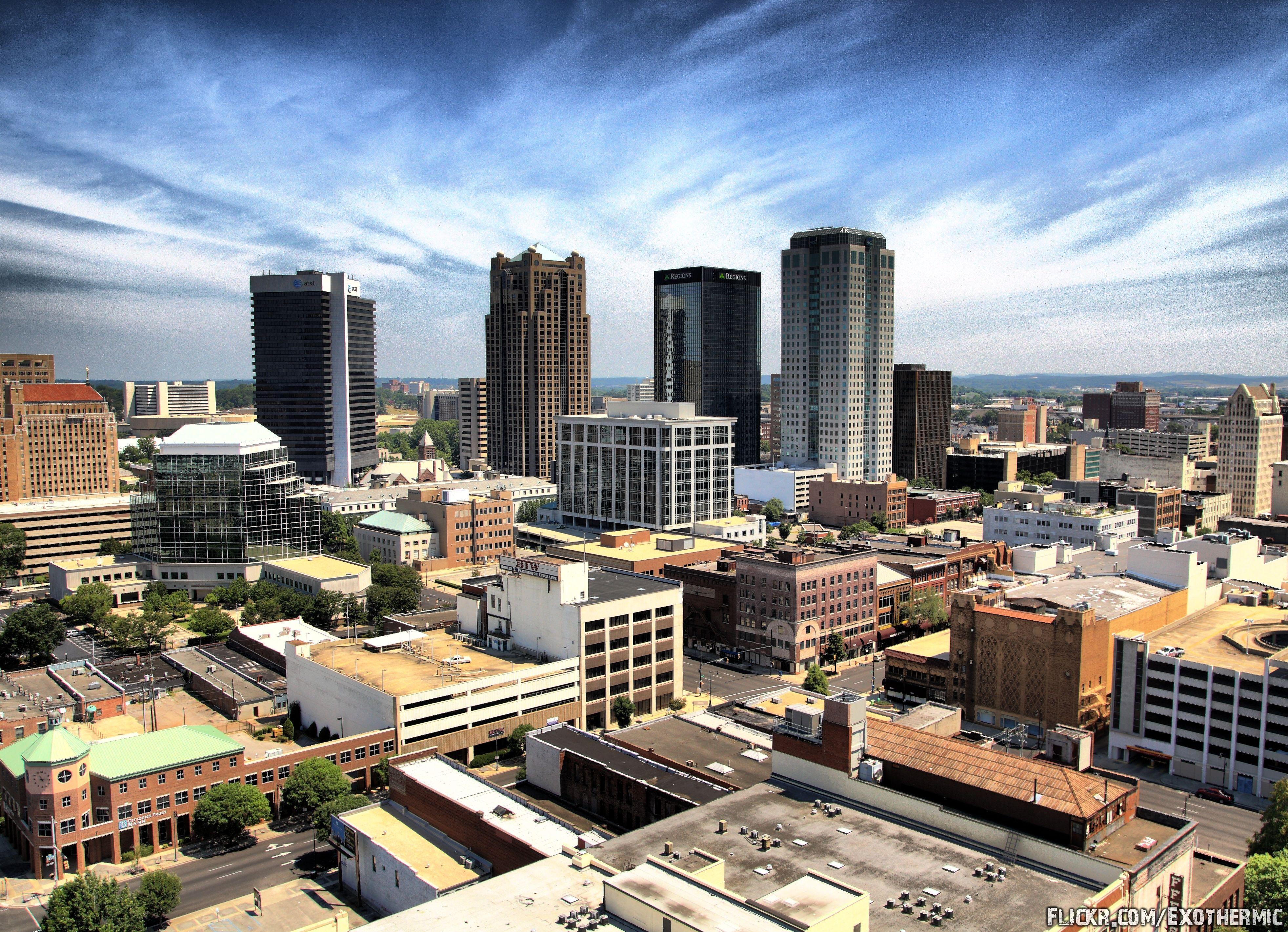 Birmingham skyline photo