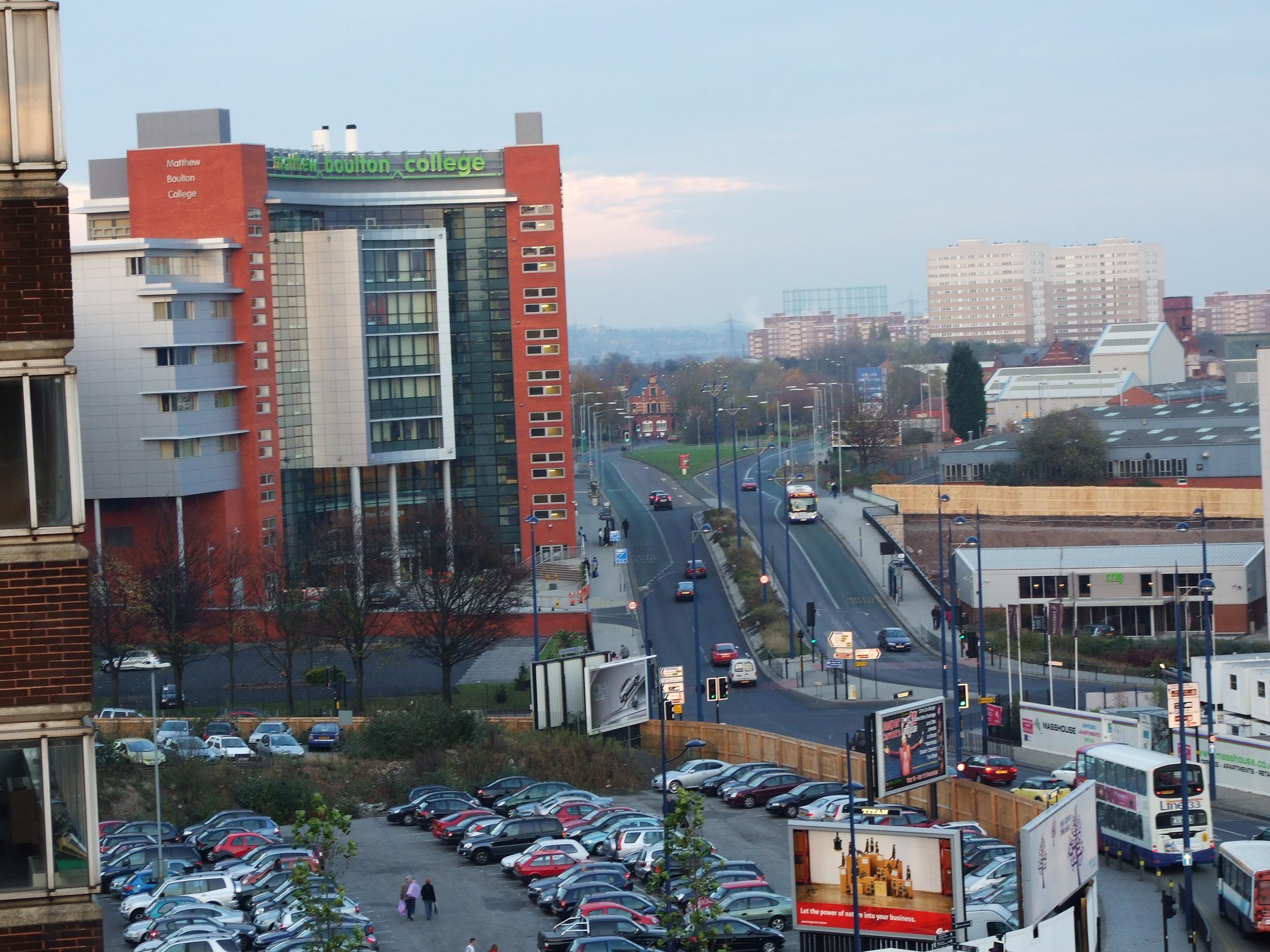 Birmingham skyline, Birmingham, Buildings, Cars, Centre, HQ Photo