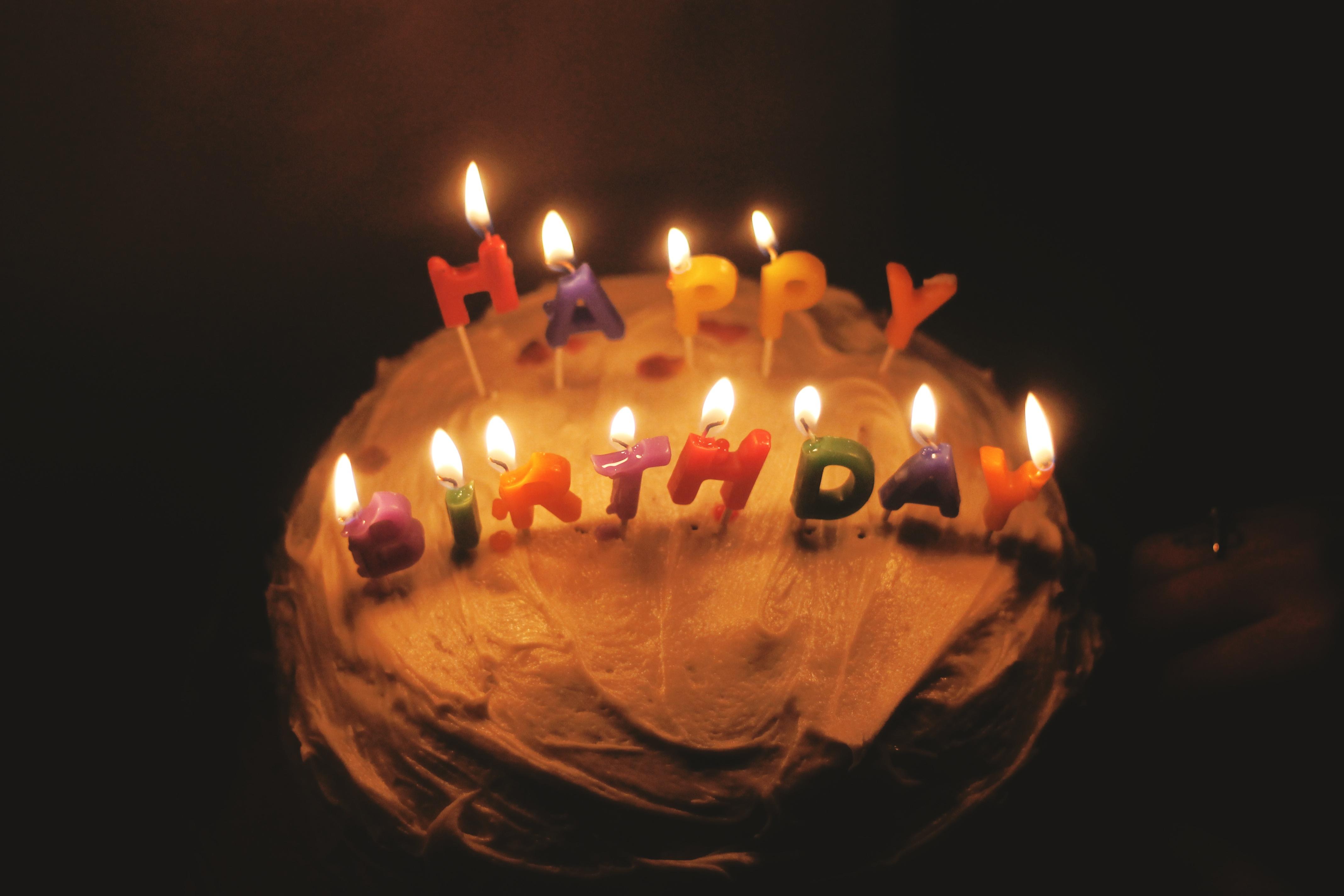 Free Photo Birthday Cake Light Sweet Sugar Free Download Jooinn