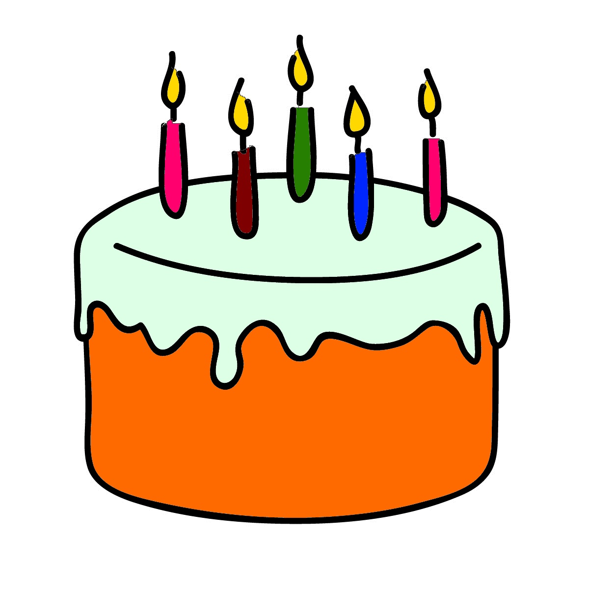 Birthday Cake Clipart Pie Candles HQ Photo