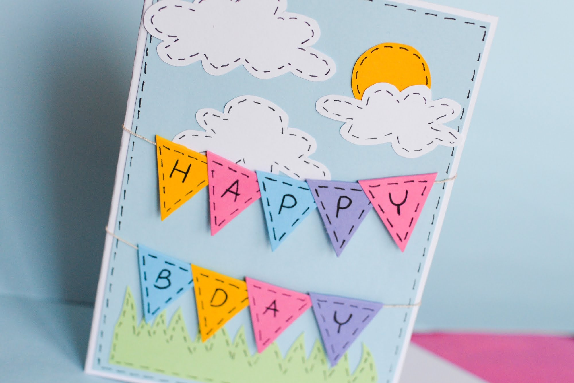 How to Make - Greeting Birthday Card - Step by Step | Kartka Na ...