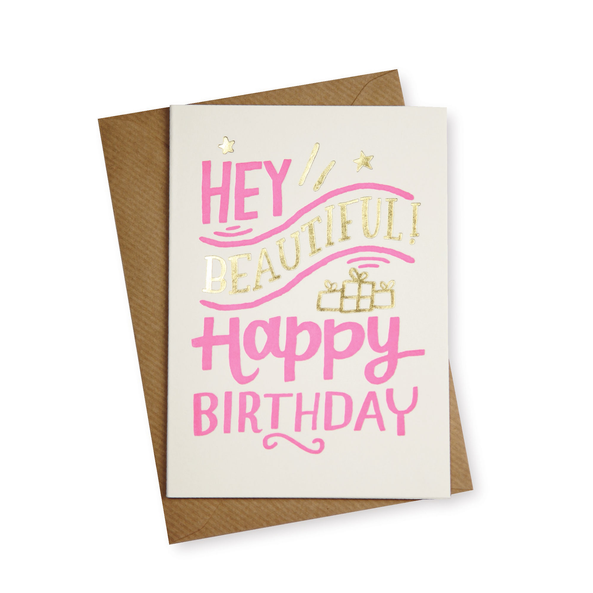 Hey Beautiful! Birthday Card | Gifts for Her | Oliver Bonas