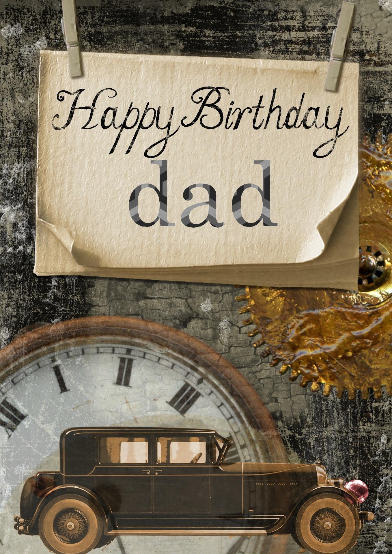 Birthday Card, Birthday, Card, Dad, Father, HQ Photo