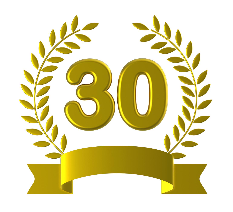 Free Photo Birthday Thirty Indicates Happy Anniversary And 30th