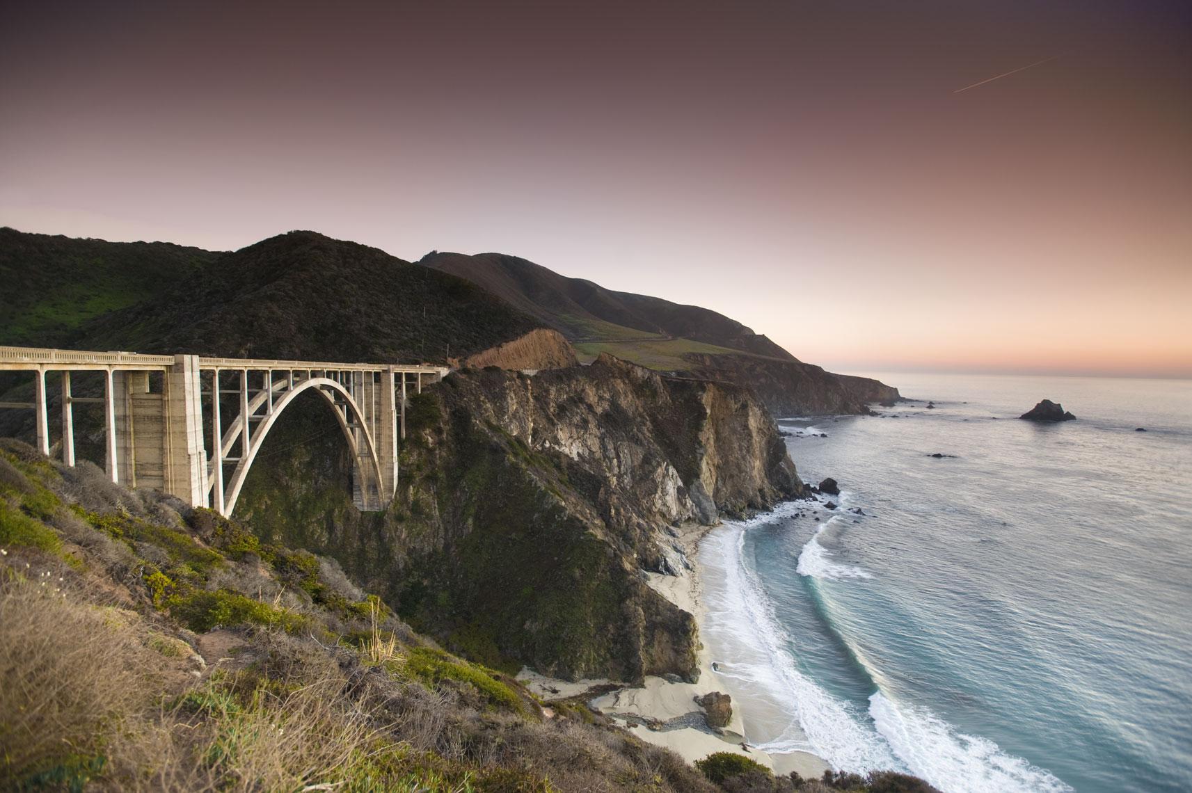 Bixby Bridge, Big Sur, by California landscape photographer Mike Morgan.