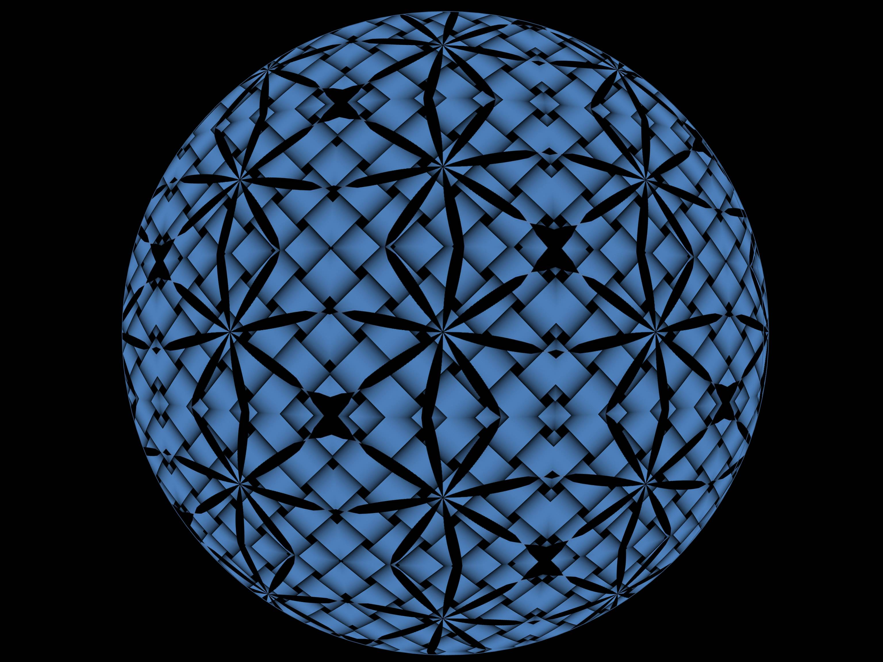 Black and Blue Sphere, Abstract, Art, Black, Blue, HQ Photo
