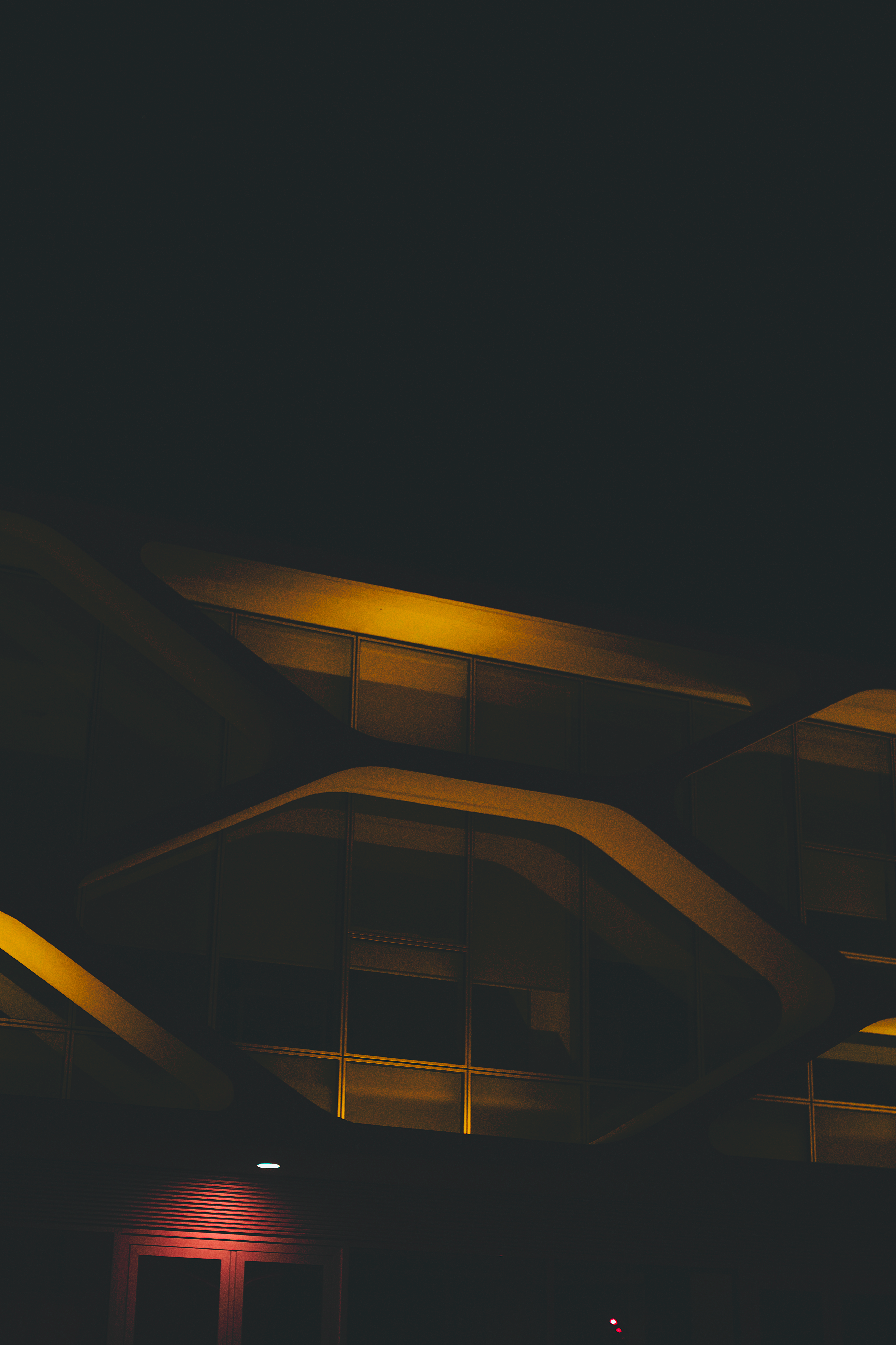 Black and Brown Building, Light, Outdoors, Night time, Night photography, HQ Photo