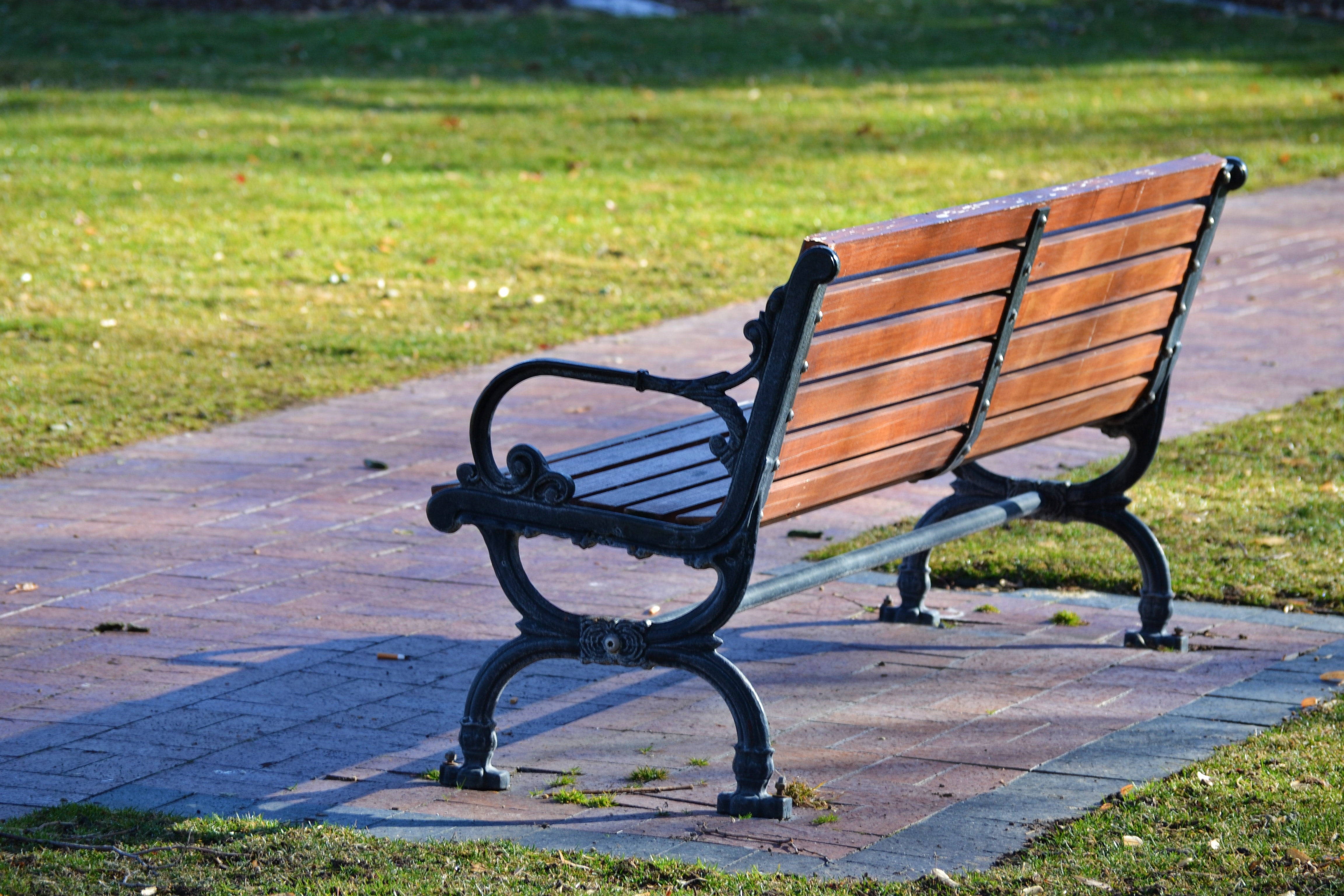 Black and Brown Wooden Bench Photo, Bench, Outdoors, Wood, Steel, HQ Photo