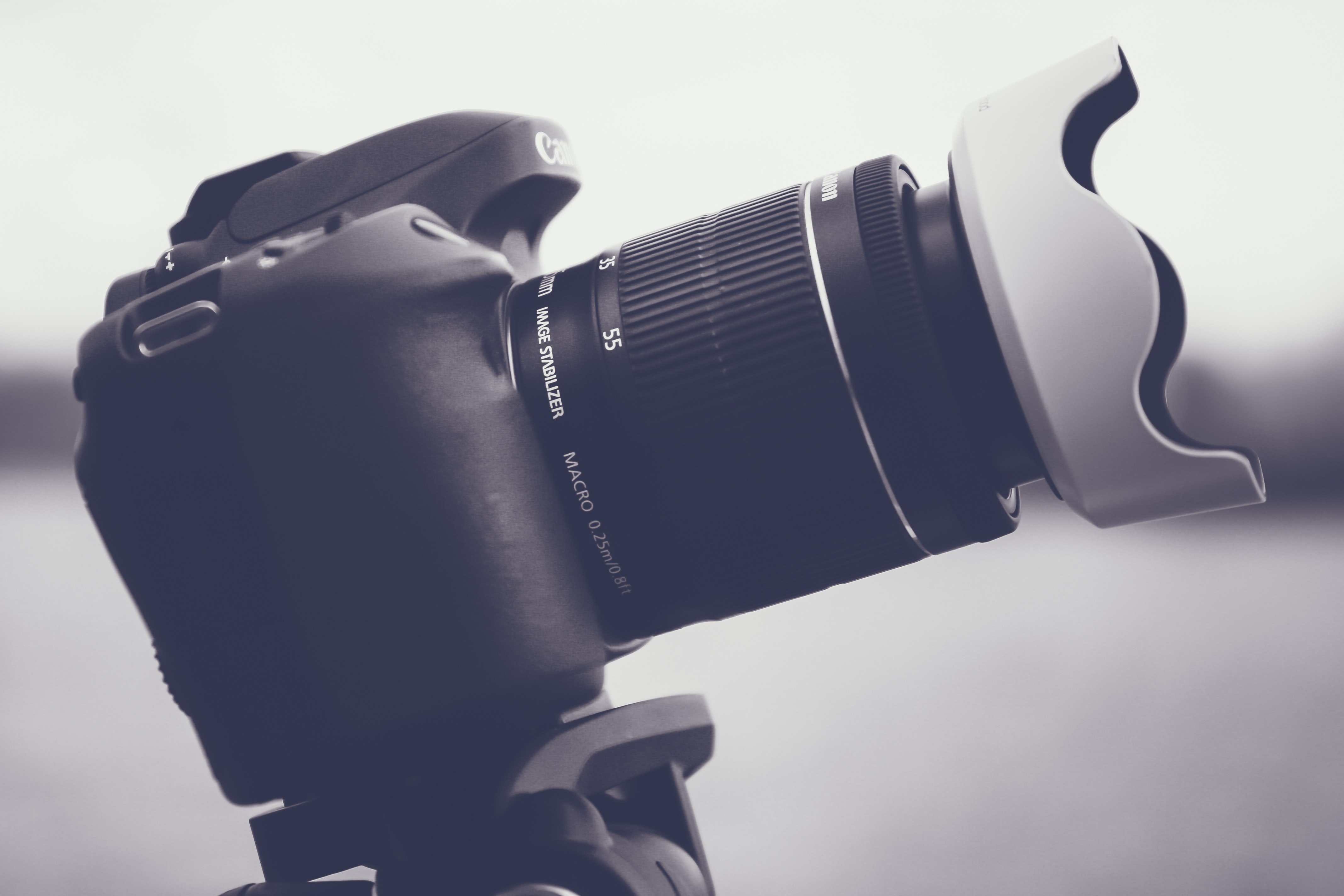 Black and Gray Dslr Camera With Lens, Aperture, Black-and-white, Camera, Camera lens, HQ Photo