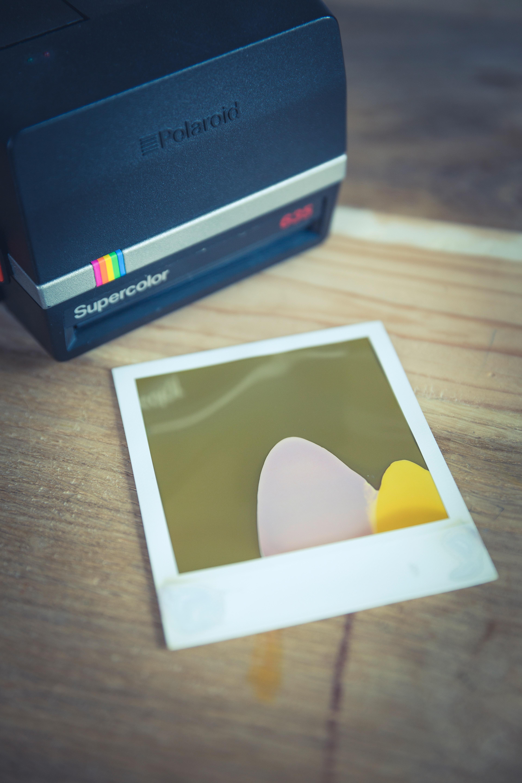Black and Gray Polaroid Supercolor Printer, Camera, Classic, Film, Photo, HQ Photo