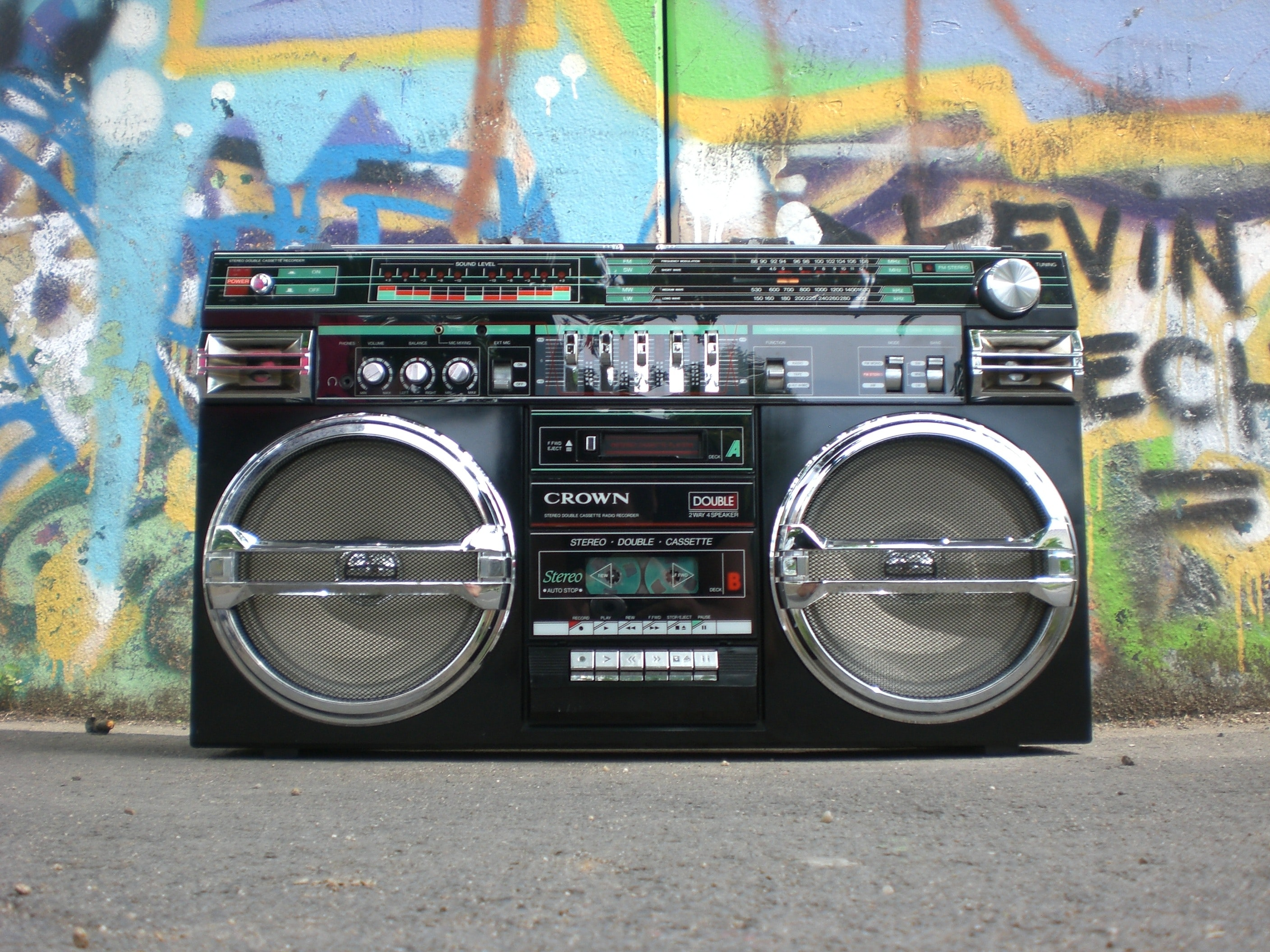Black and silver cassette player photo