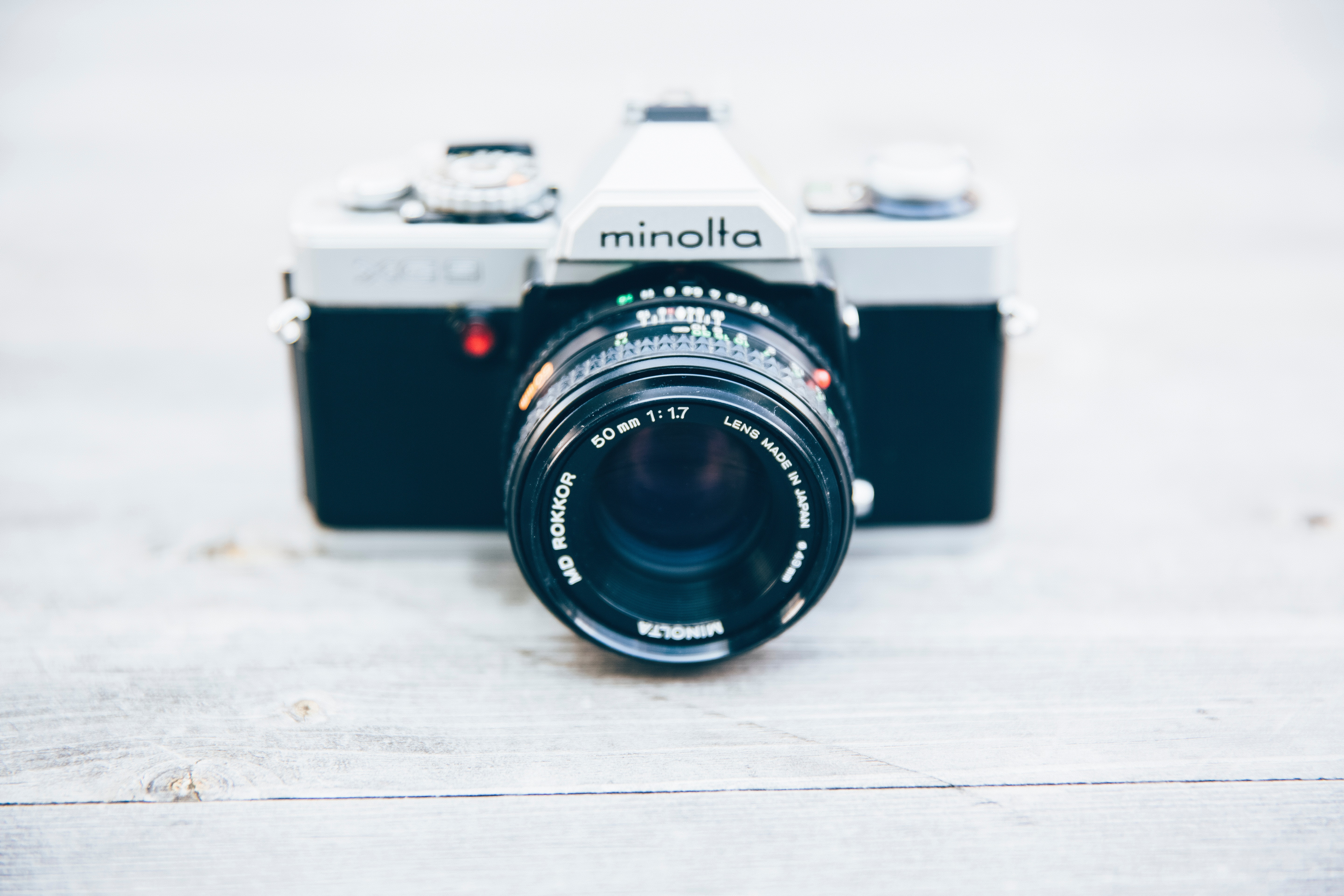 Black and Silver Minolta Camera, Background, Lens, White background, Style, HQ Photo