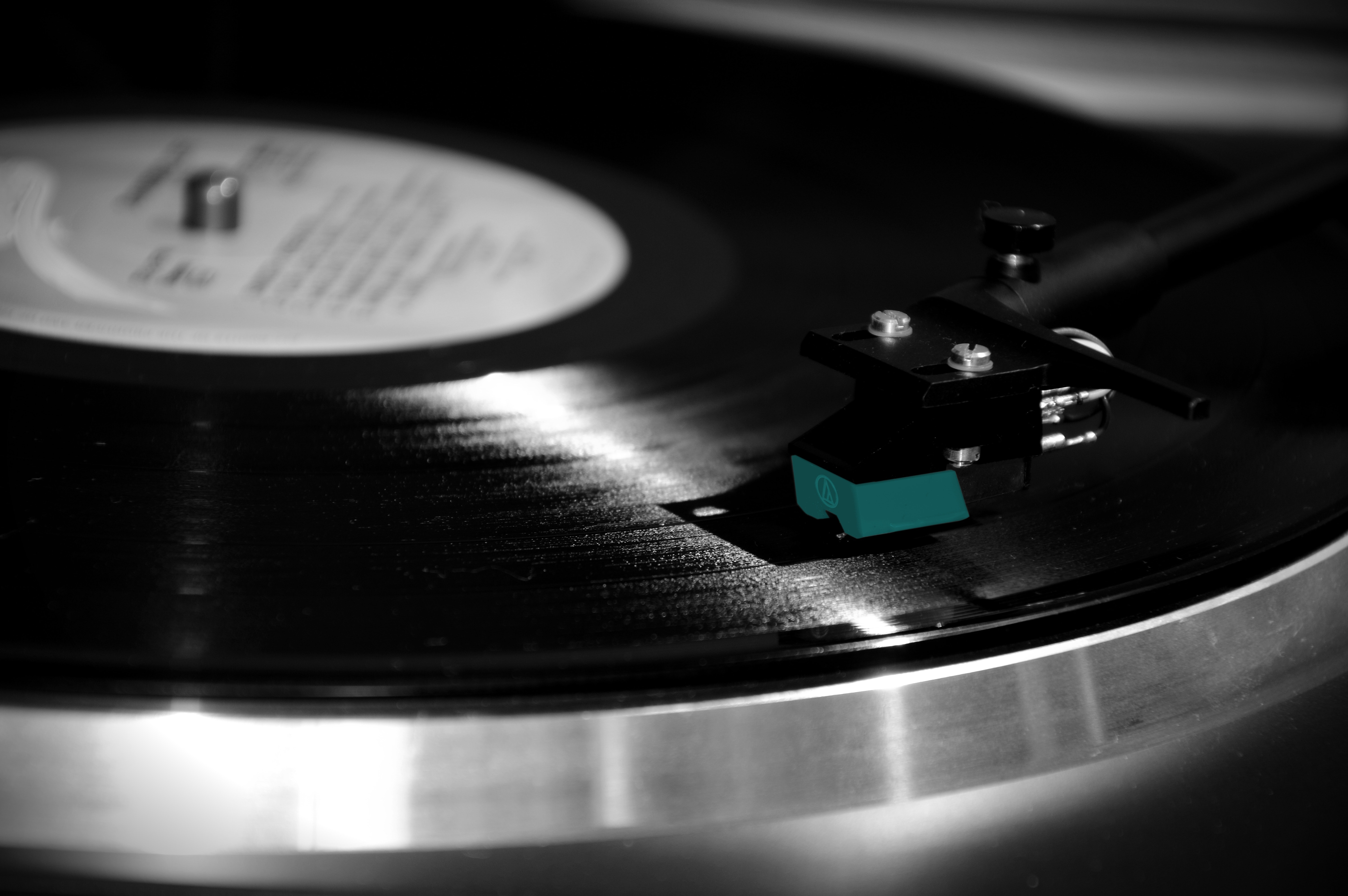 Black and Silver Turntable, Data, Mono, Play, Record, HQ Photo