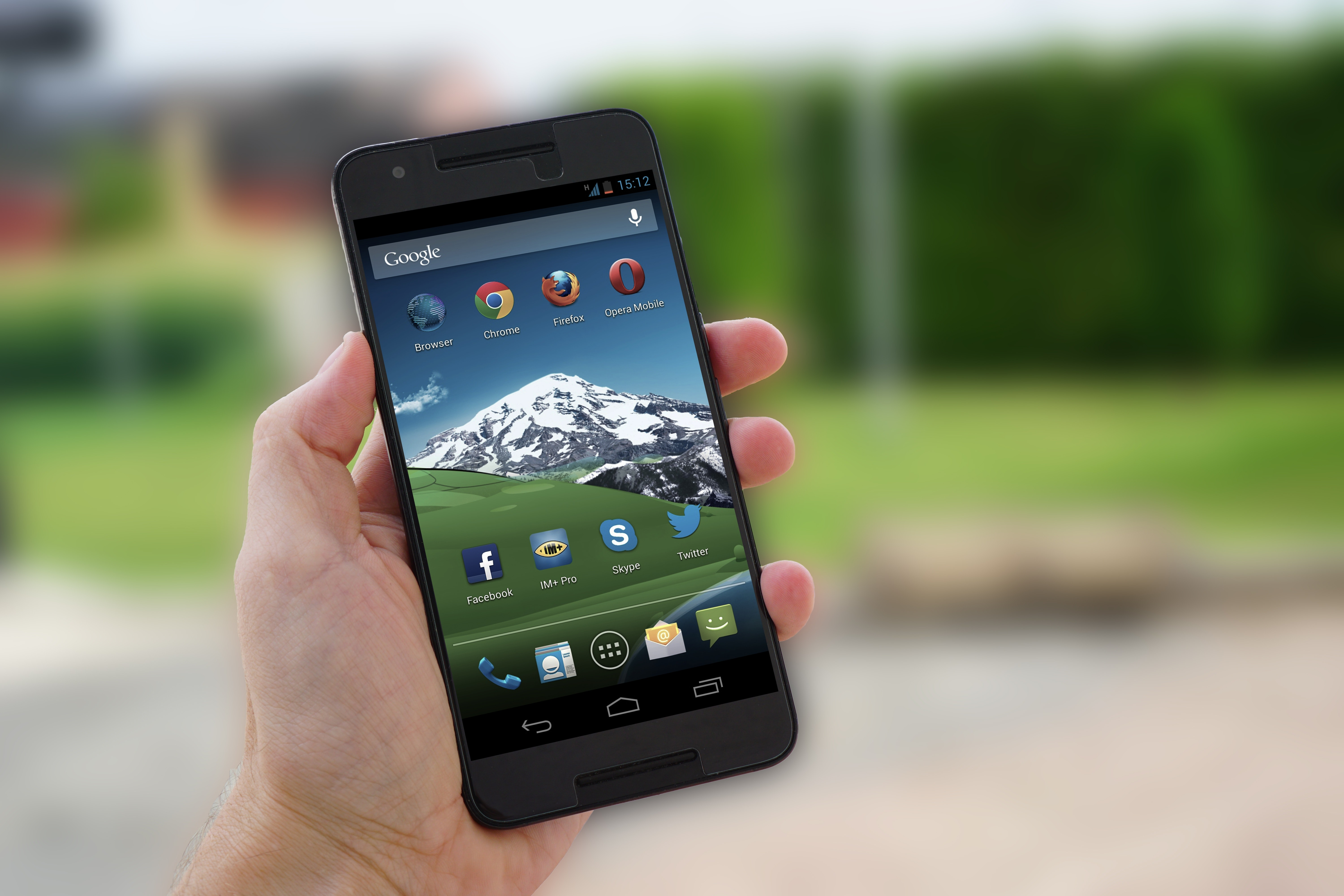 Black android smartphone photo