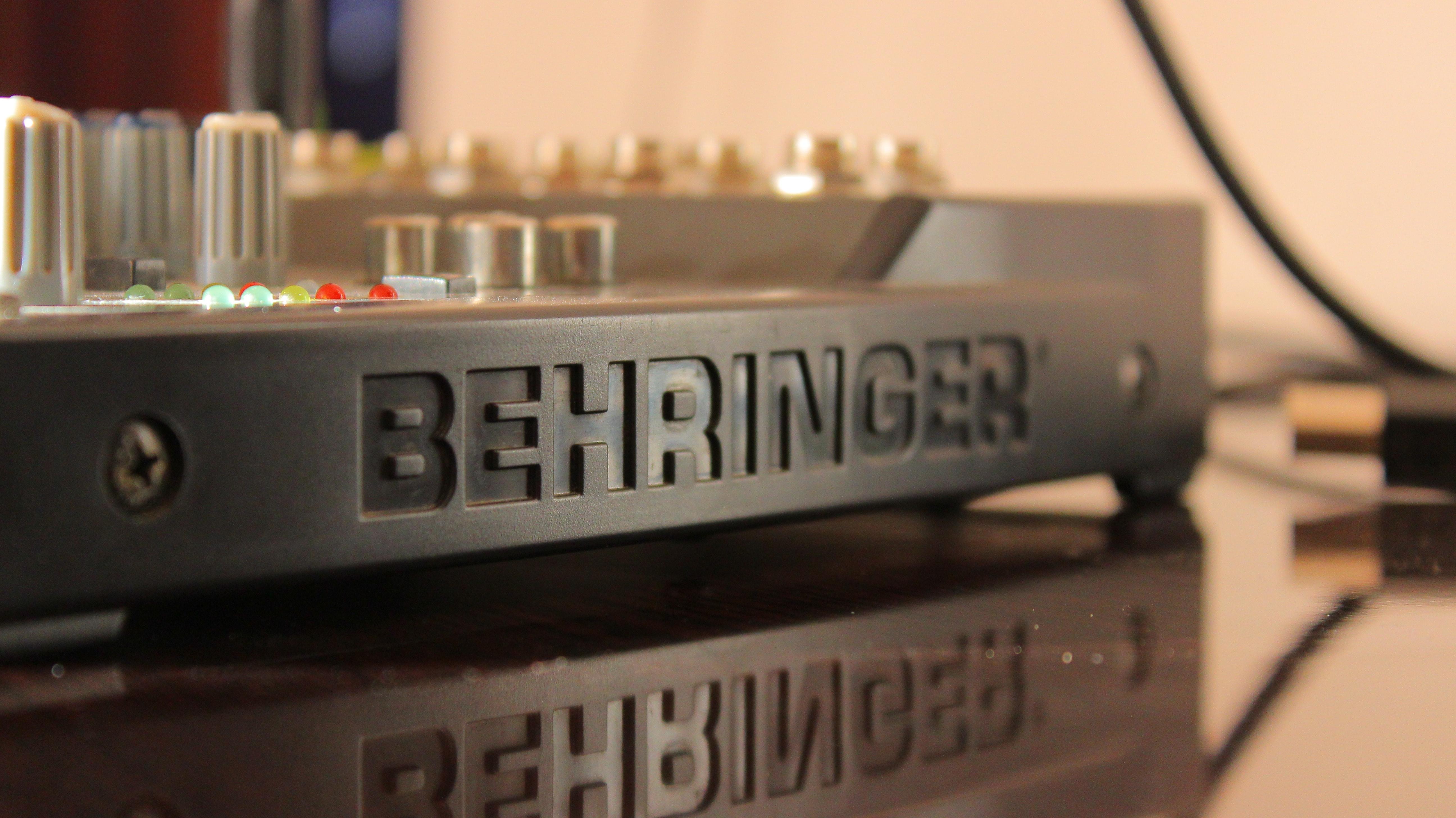 Black behringer equalizer photo