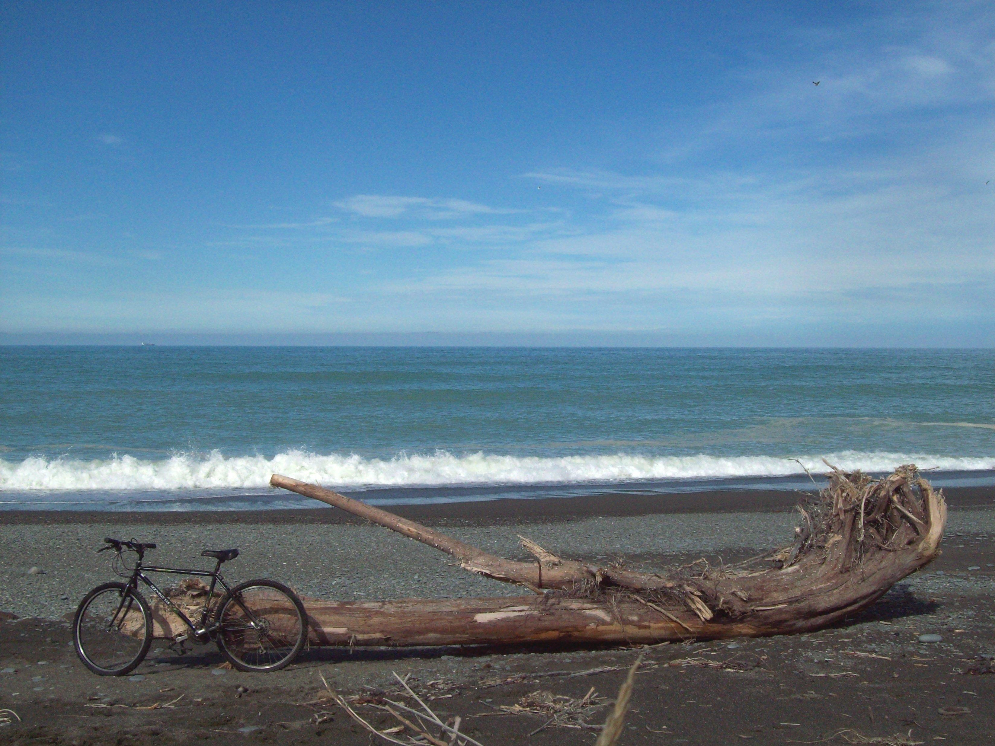Black Bike in South Canterbury, Surf, Skin, Temuka, Waves, HQ Photo