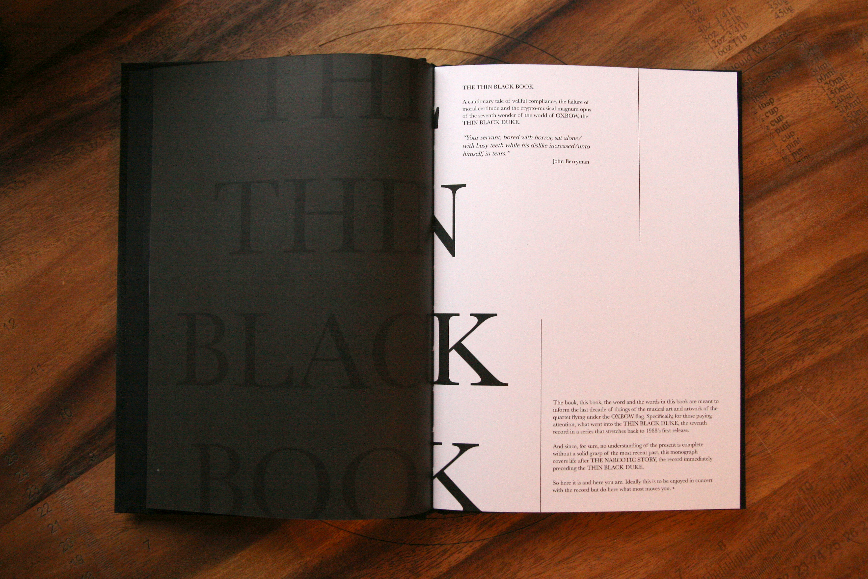 OXBOW • THIN BLACK BOOK on Behance