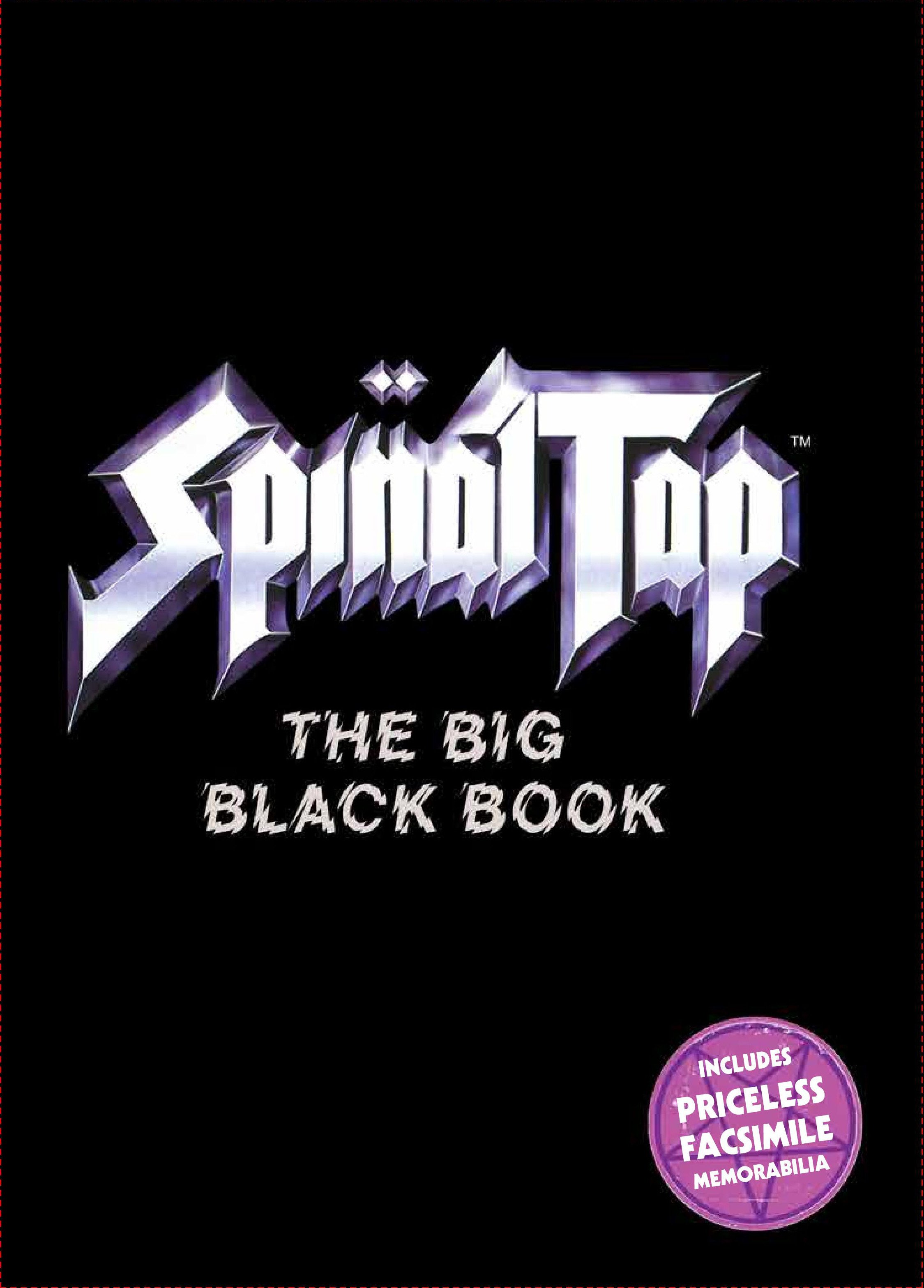 Spinal Tap: The Big Black Book - backwing