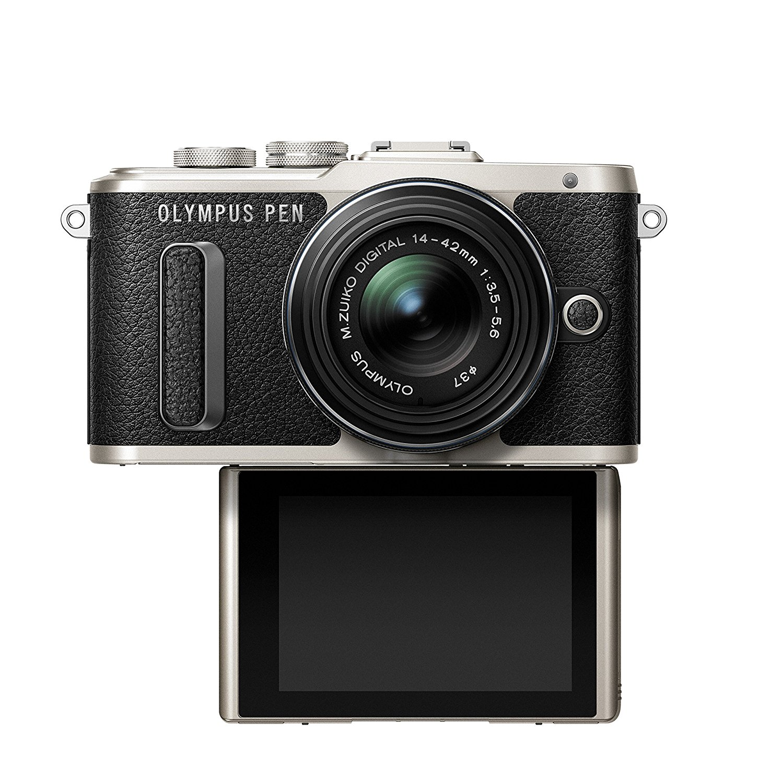 Amazon.com : Olympus PEN E-PL8 Black Body with 14-42mm IIR Black ...