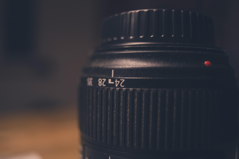 Black camera lens photo