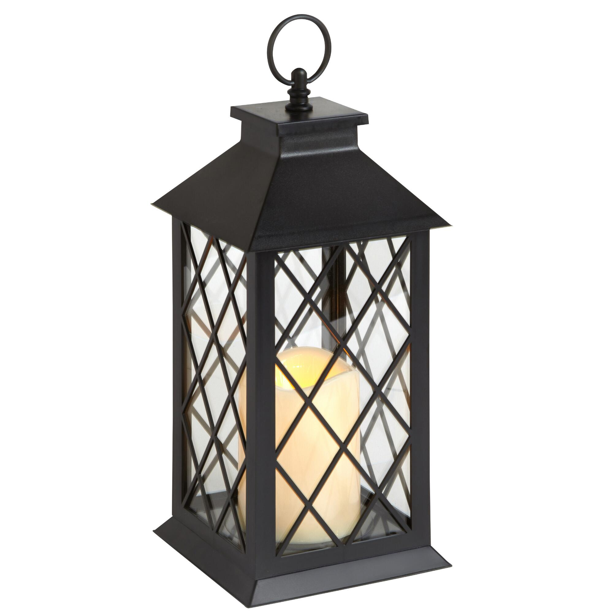 Black Crisscross LED Candle Lantern | Christmas Tree Shops andThat!