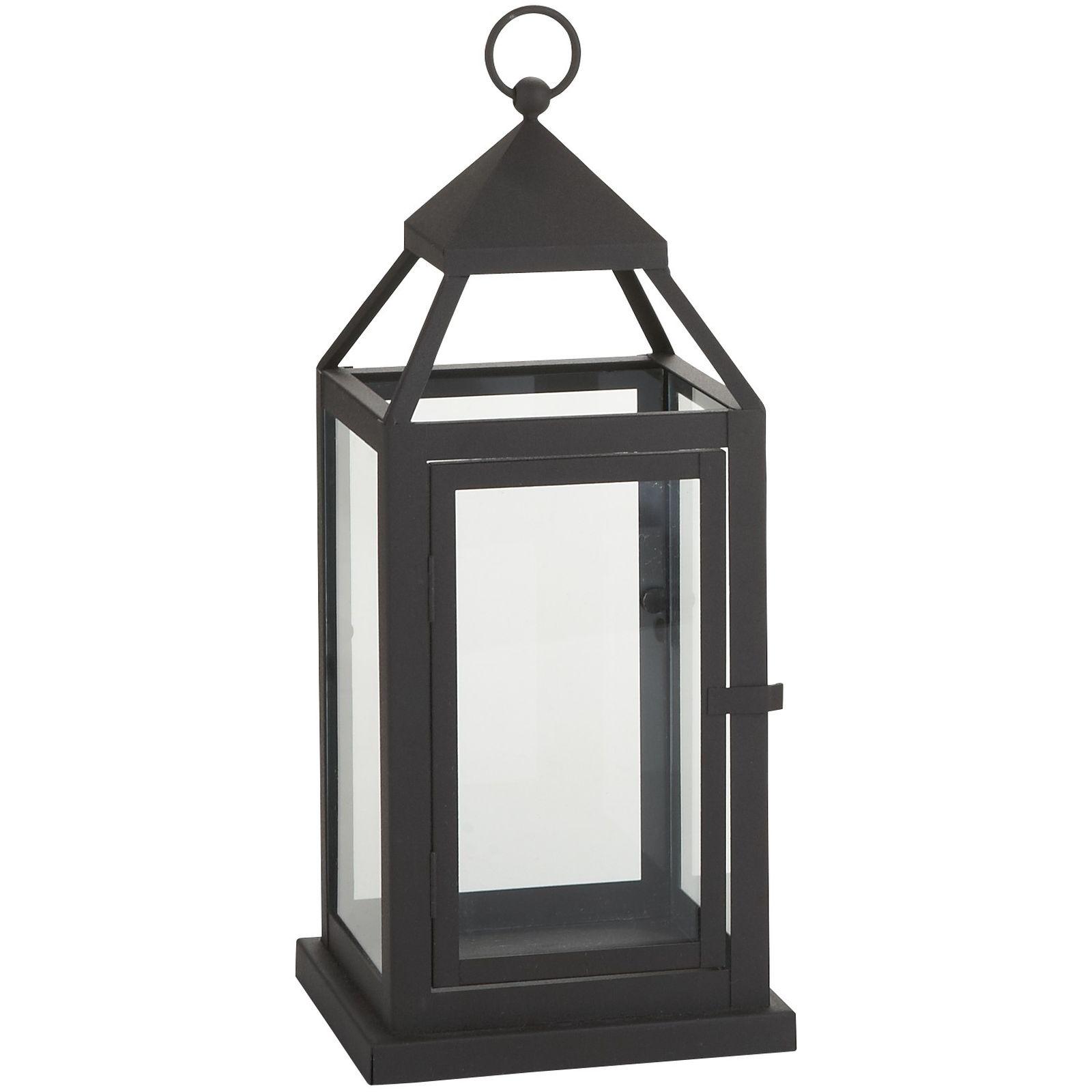 Landen Small Black Metal Lantern | Pier 1 Imports